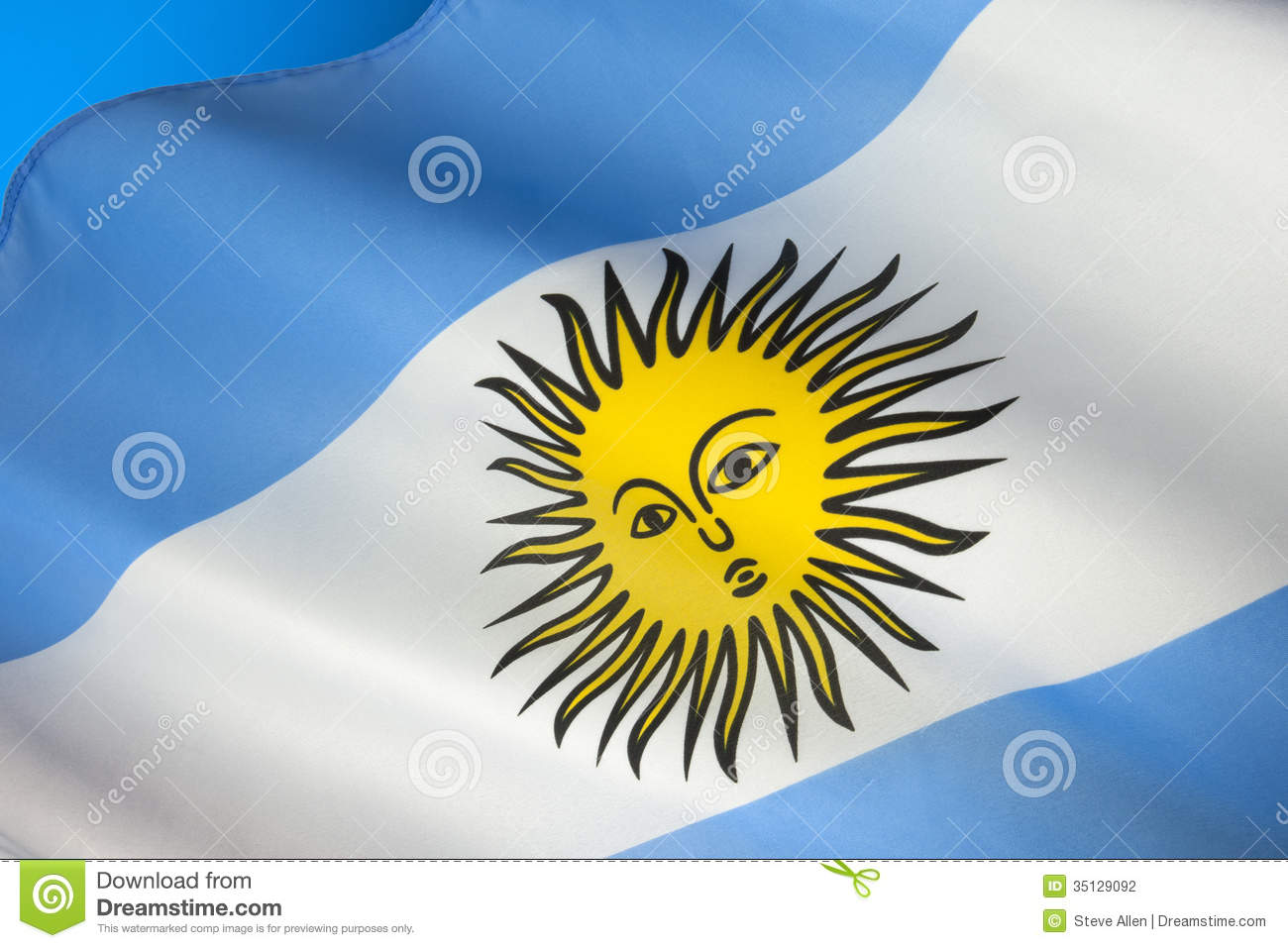 Flag Of Argentina South America Stock Photo Image Of Symbol