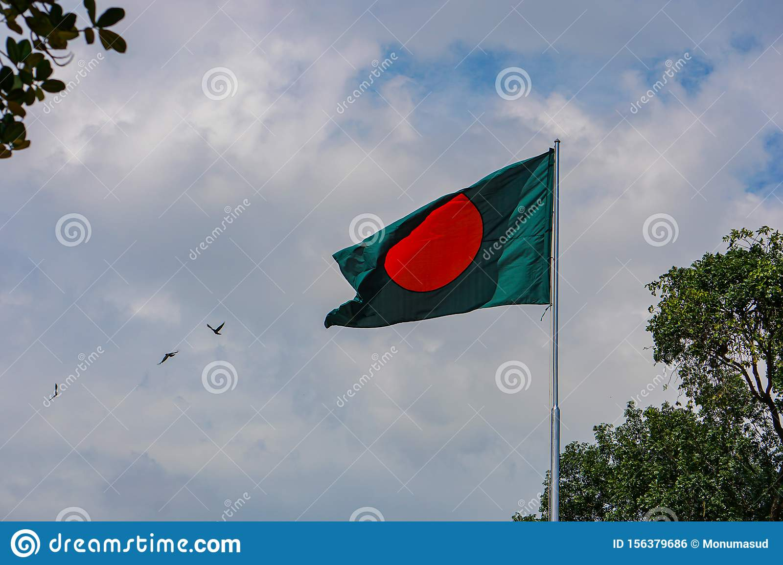 Flag of the Bangladesh, Freedom Square, Shahbagh-Dhaka-Bangladesh
