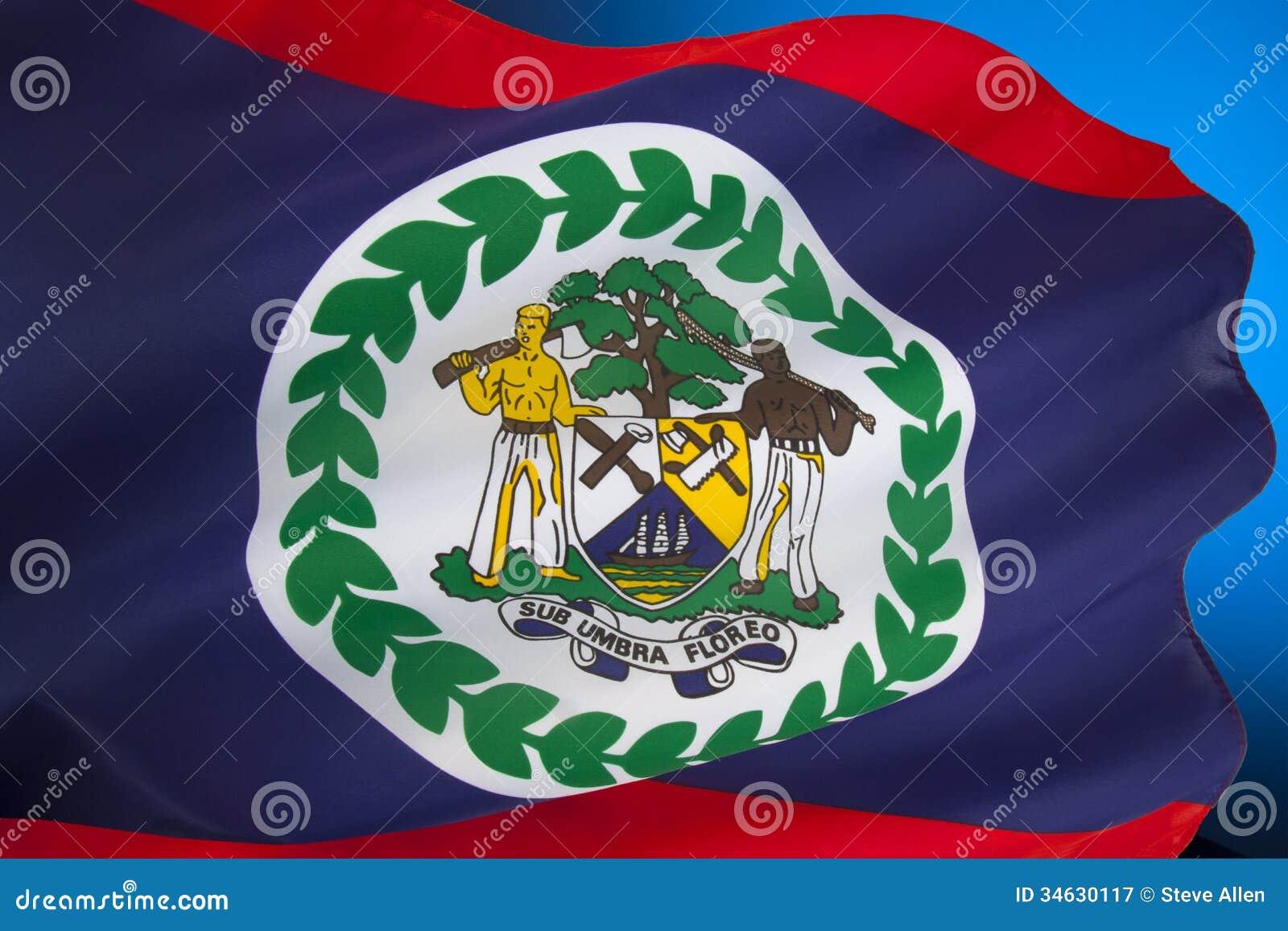 flag of belize central america stock image image of flag emblem