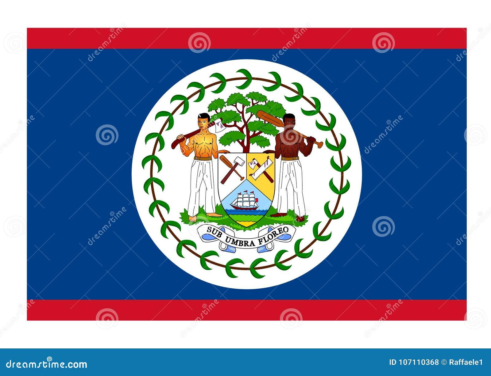 flag of belize stock vector illustration of vector 107110368