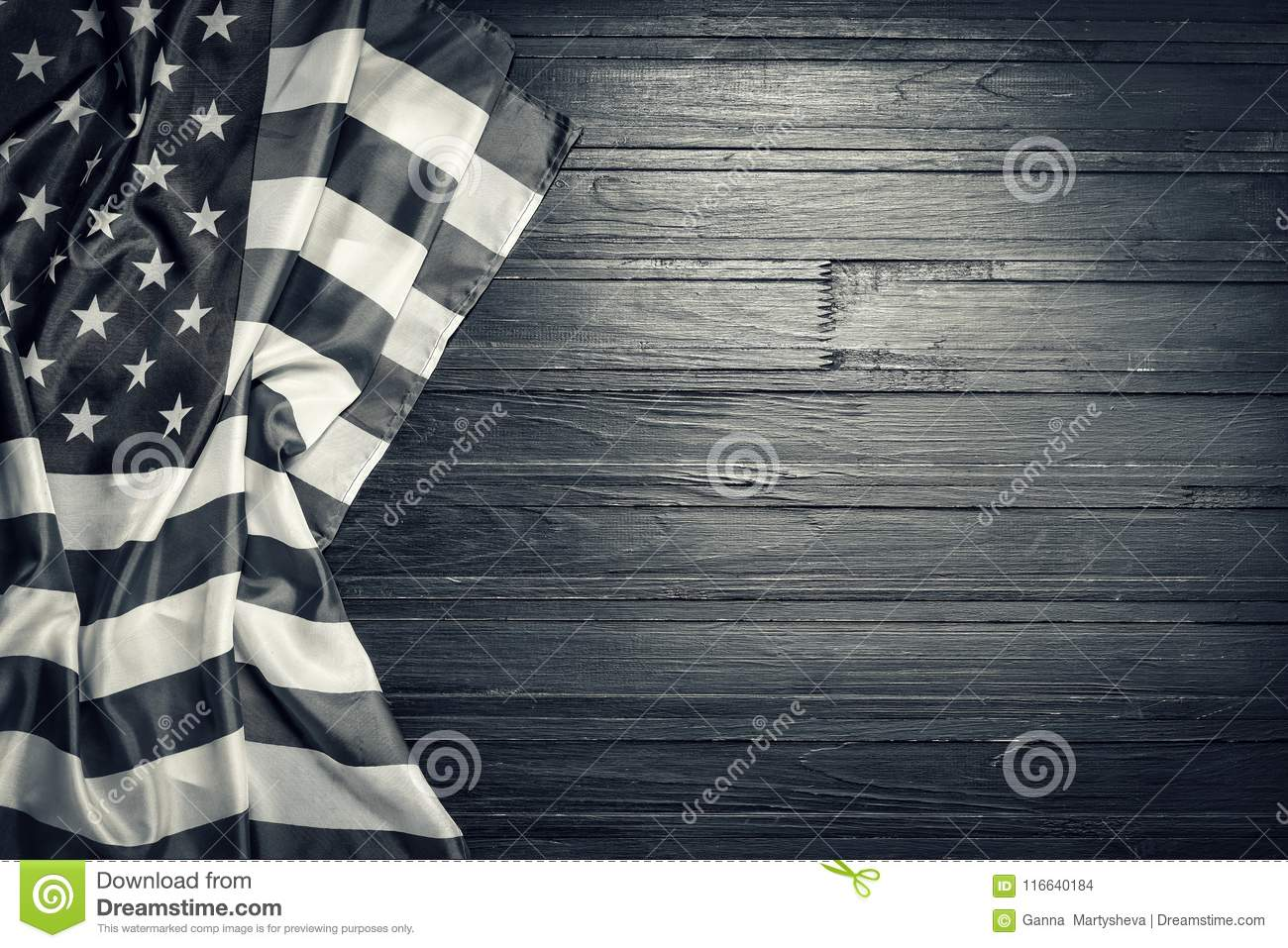 Flag Black And White Background National Wood Usa American