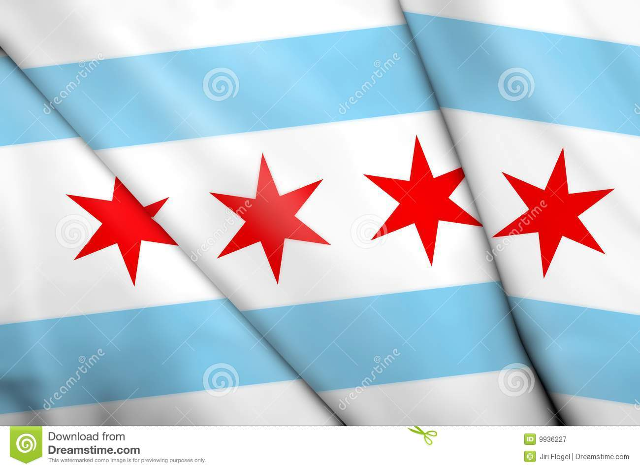 flag of chicago  usa  royalty free stock photography