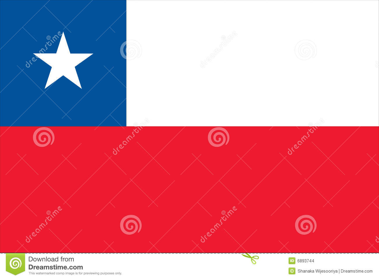 Flag of chile - chilean flag