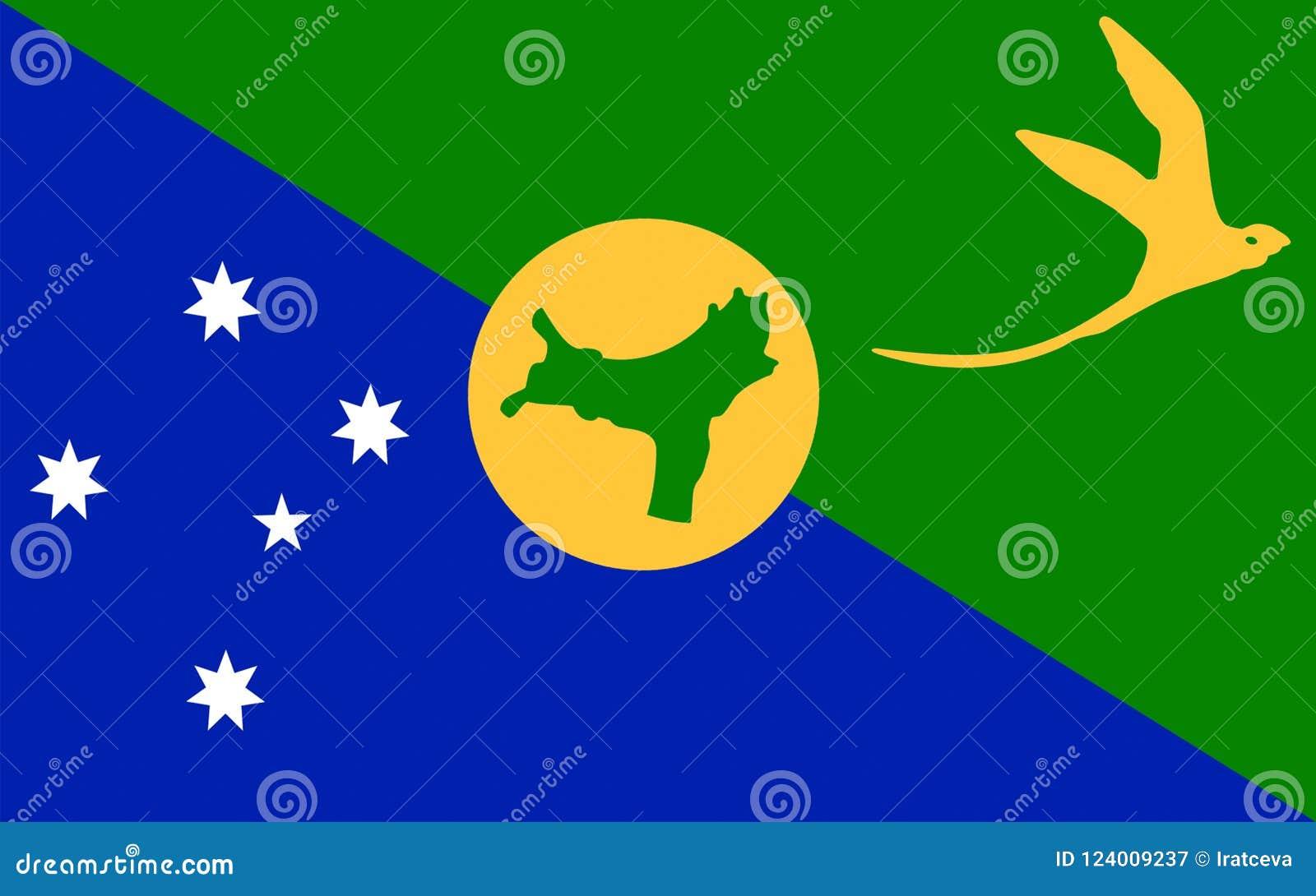 Flag of Christmas Island stock illustration. Illustration of australian - 124009237