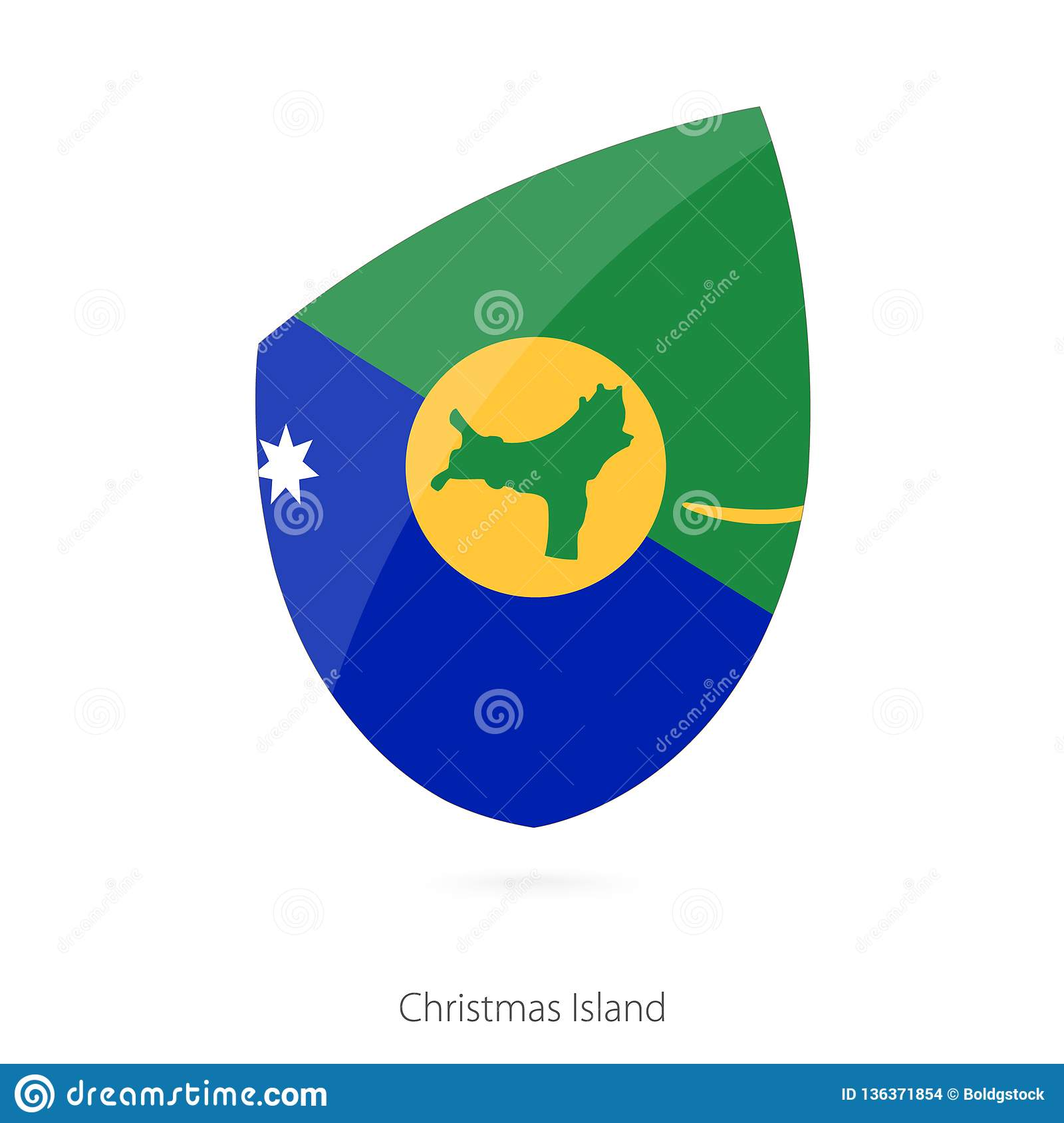 Flag of Christmas Island stock vector. Illustration of official - 136371854