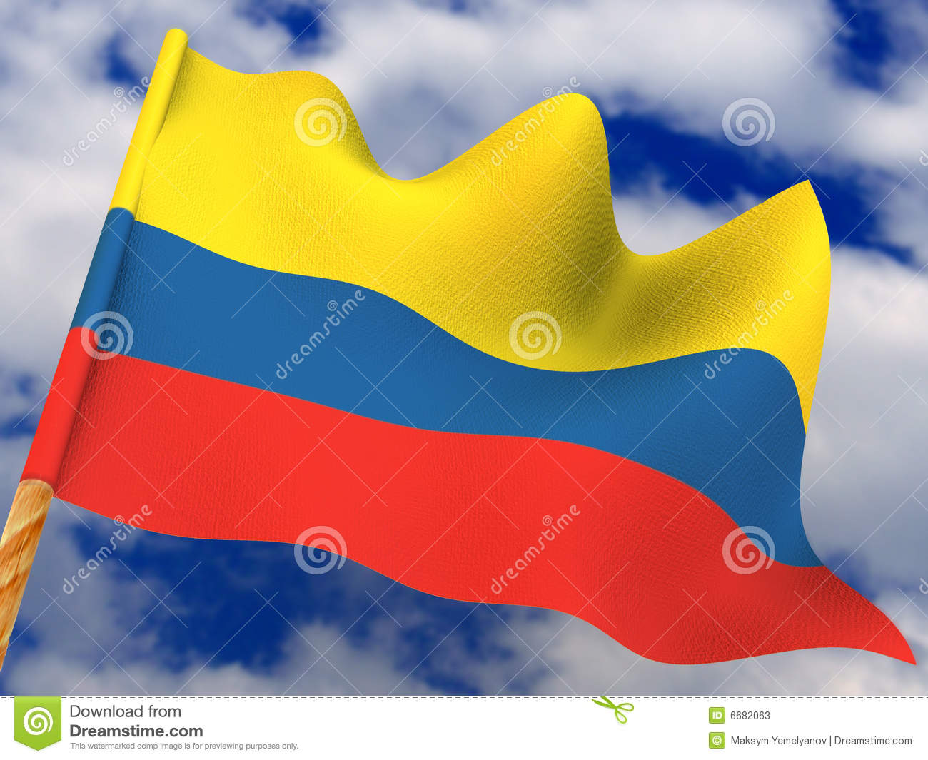 Flag. Colombia