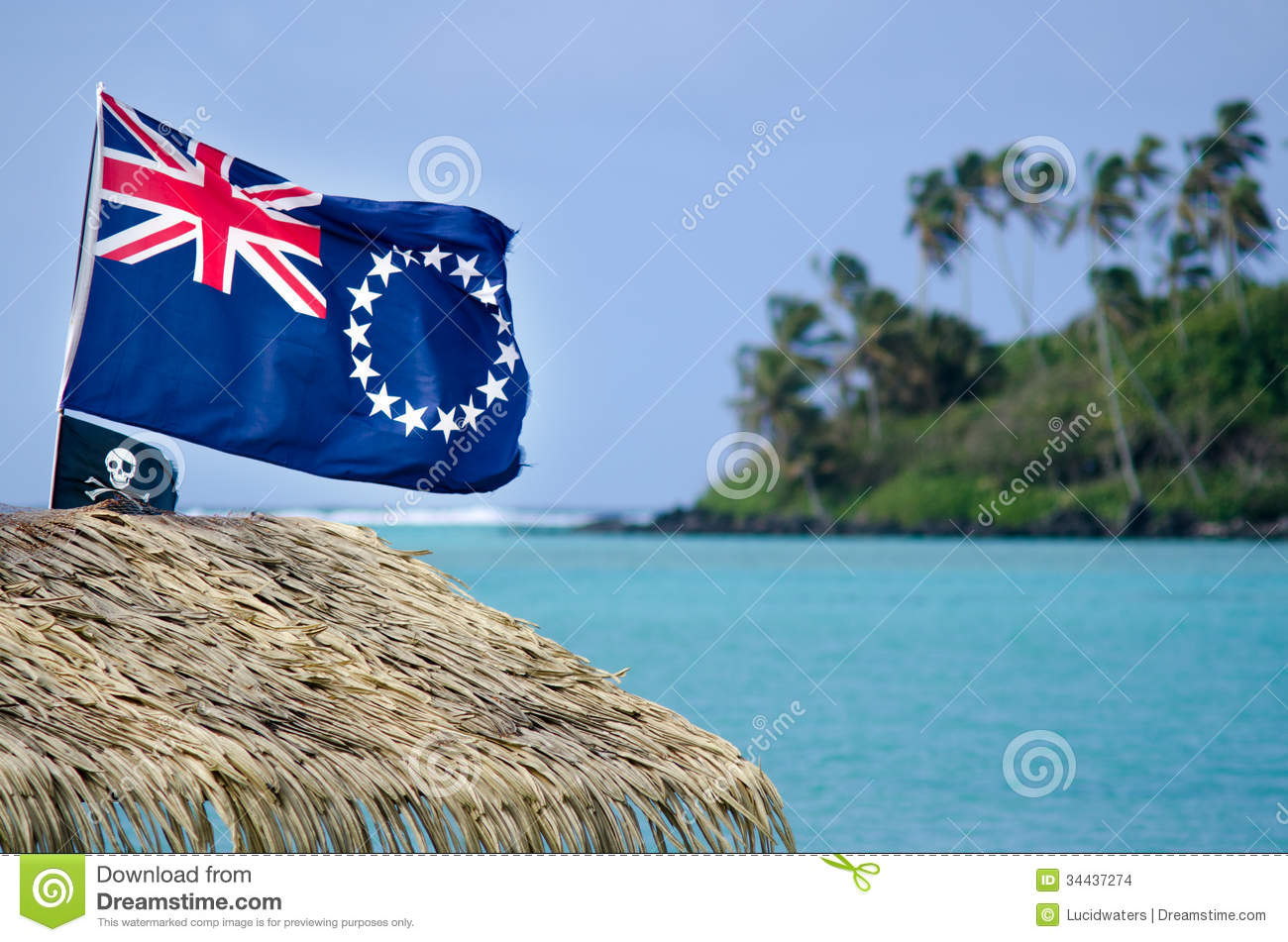 Flag Of The Cook Islands Stock Photo Image Of Pacific 34437274