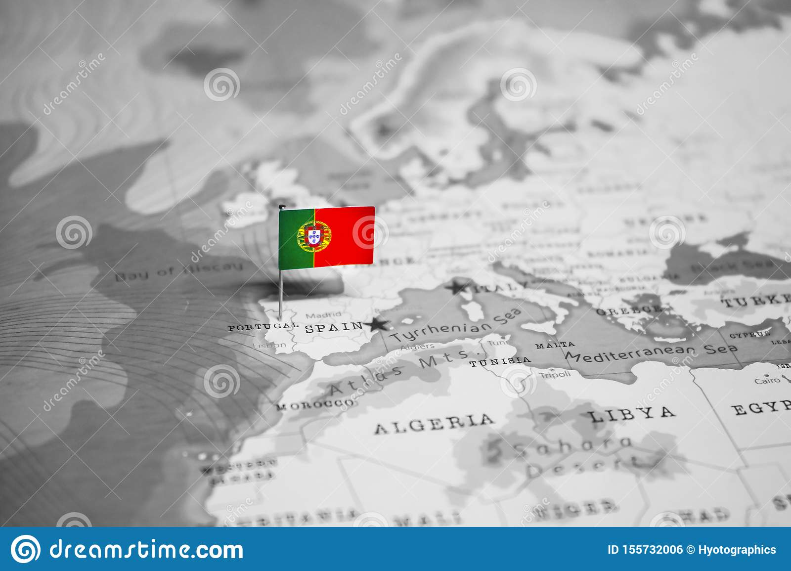 Picture of: The Flag Of Portugal In The World Map Stock Photo Image Of Departure Government 155732006