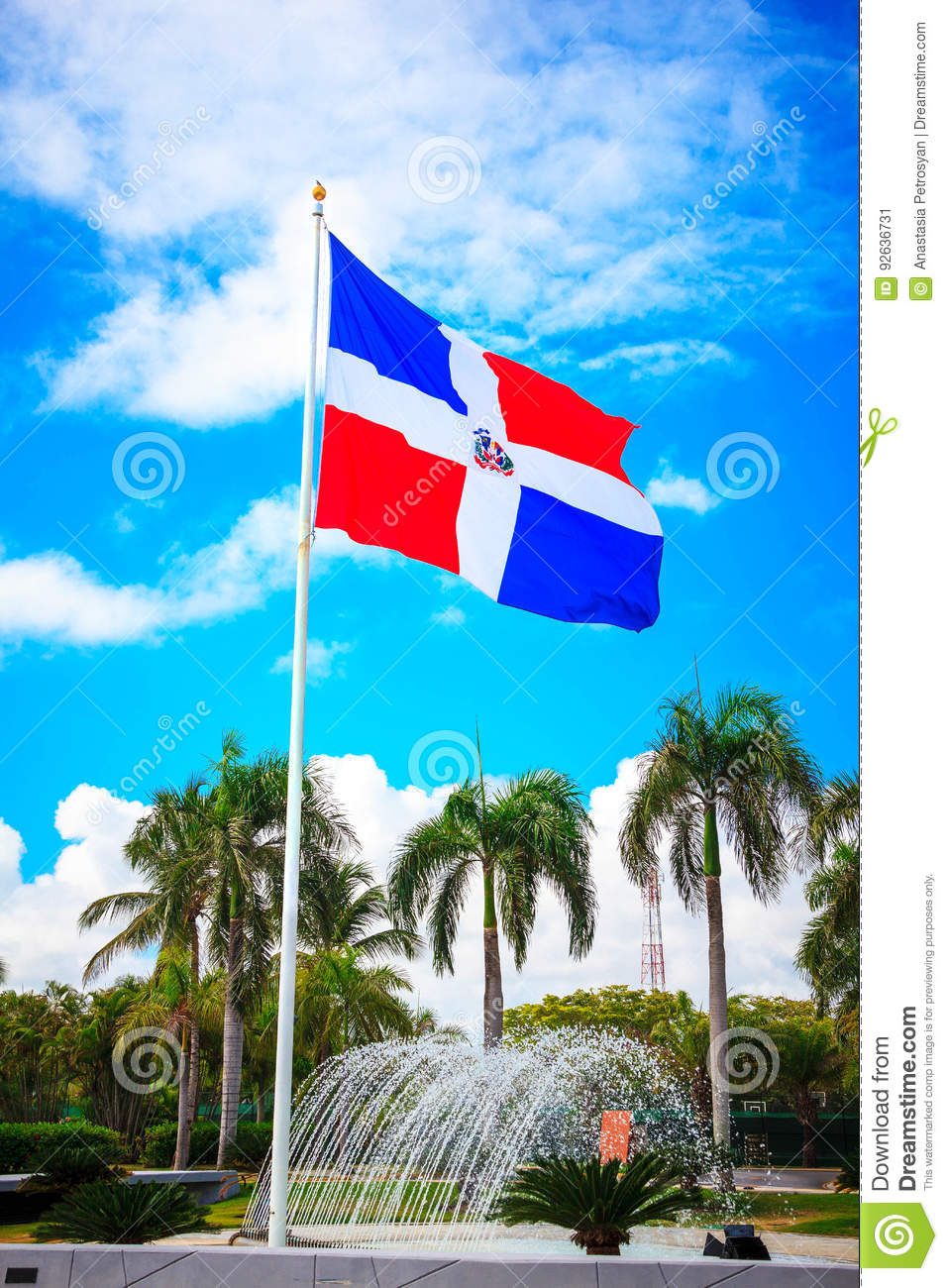 flag of dominican republic punta cana stock image image of