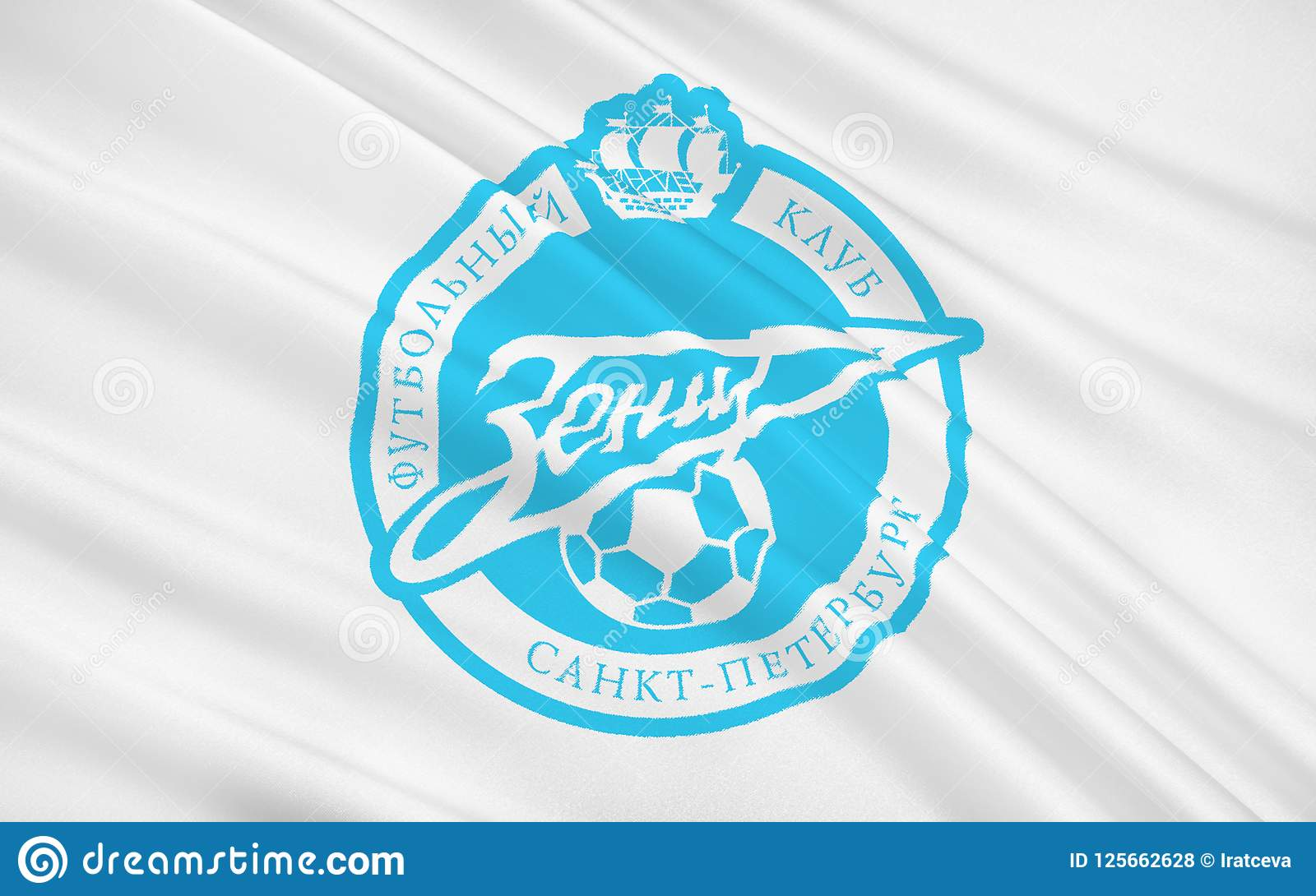Flag Football Club Zenit Russia Editorial Stock Photo Illustration Of Blue Gazprom 125662628