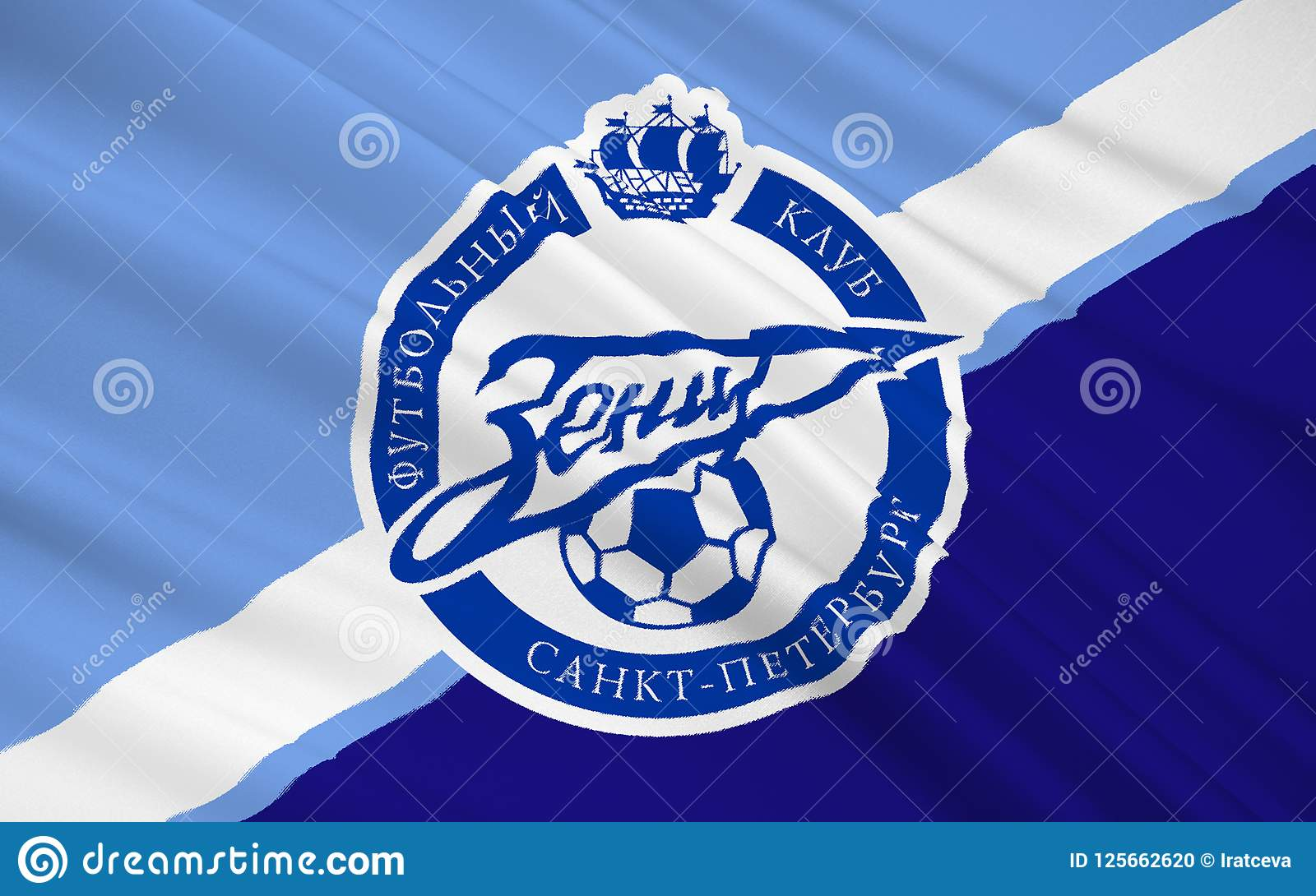 Flag Football Club Zenit Russia Editorial Image Illustration Of Nation Gunners 125662620