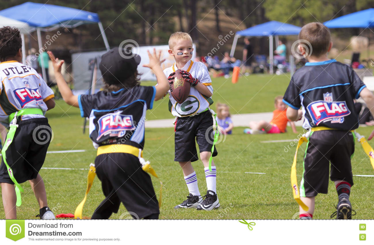 A Flag Football Game for 5 to 6 Year Olds