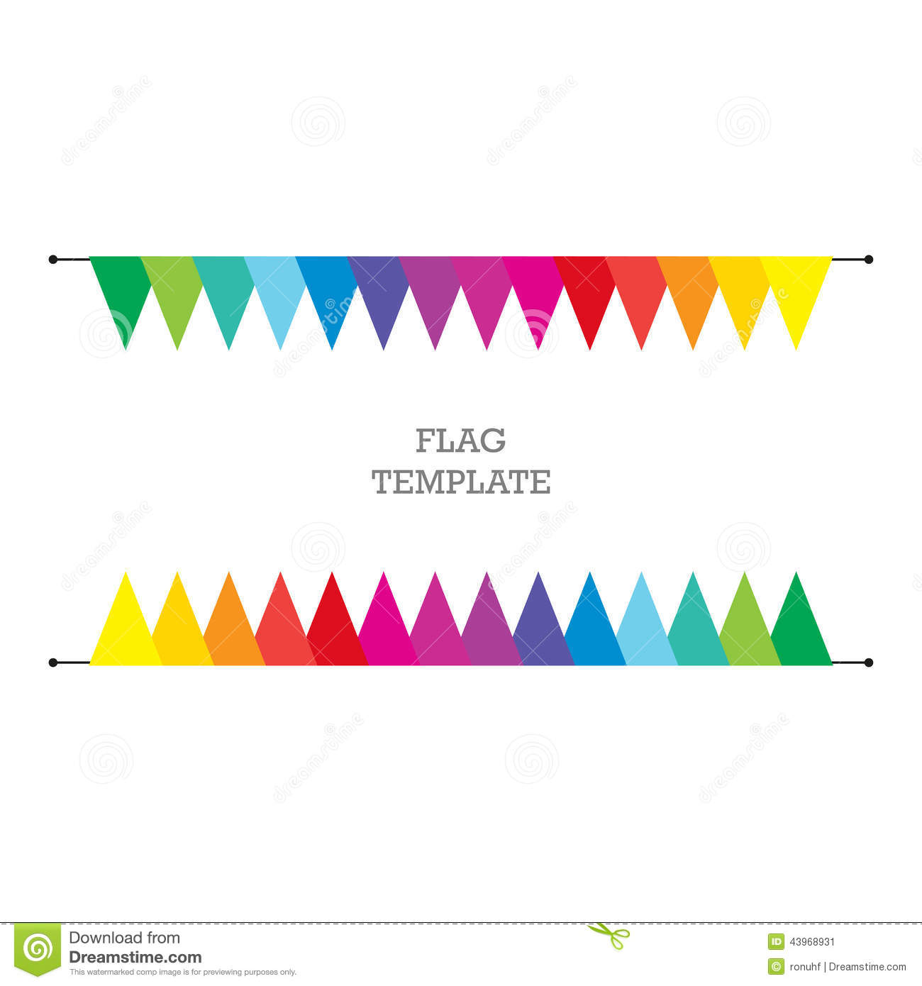 Flag Geometric Banner Background Bunting Or Swag Template For Scrapbooking Parties Baby Showers And Sales Illustration 43968931 Megapixl