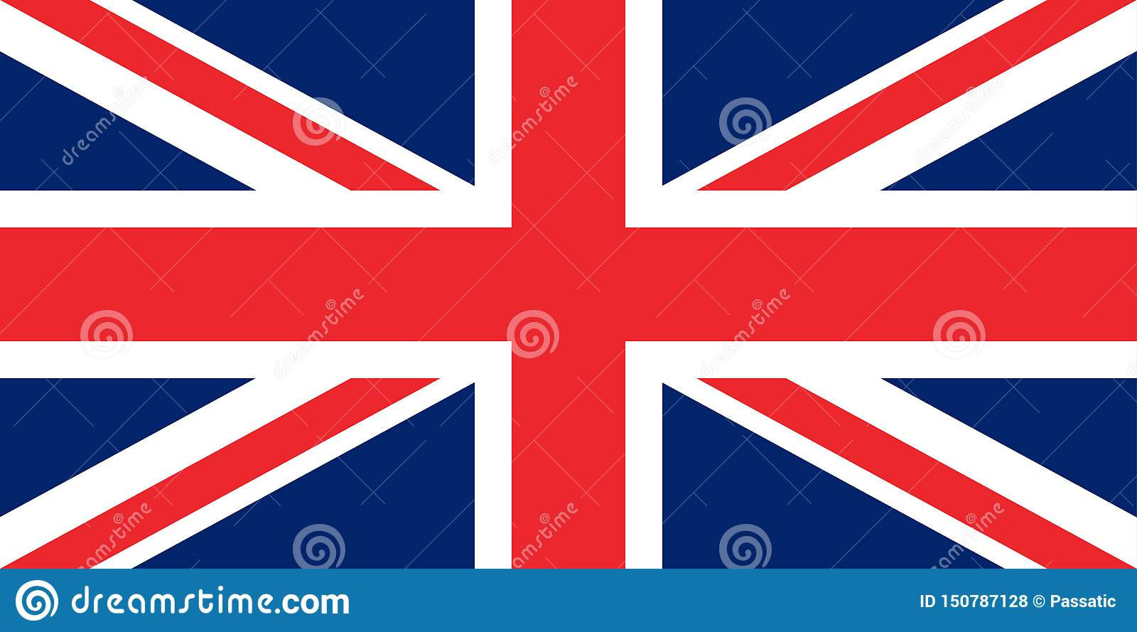 Flag of the great britain original proportions