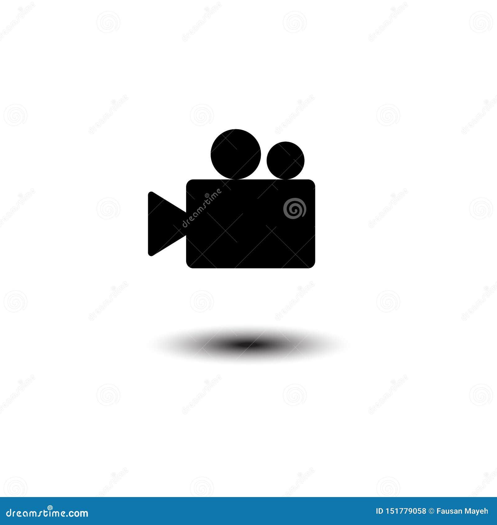 Video camera Icon vector flat design. eps 10
