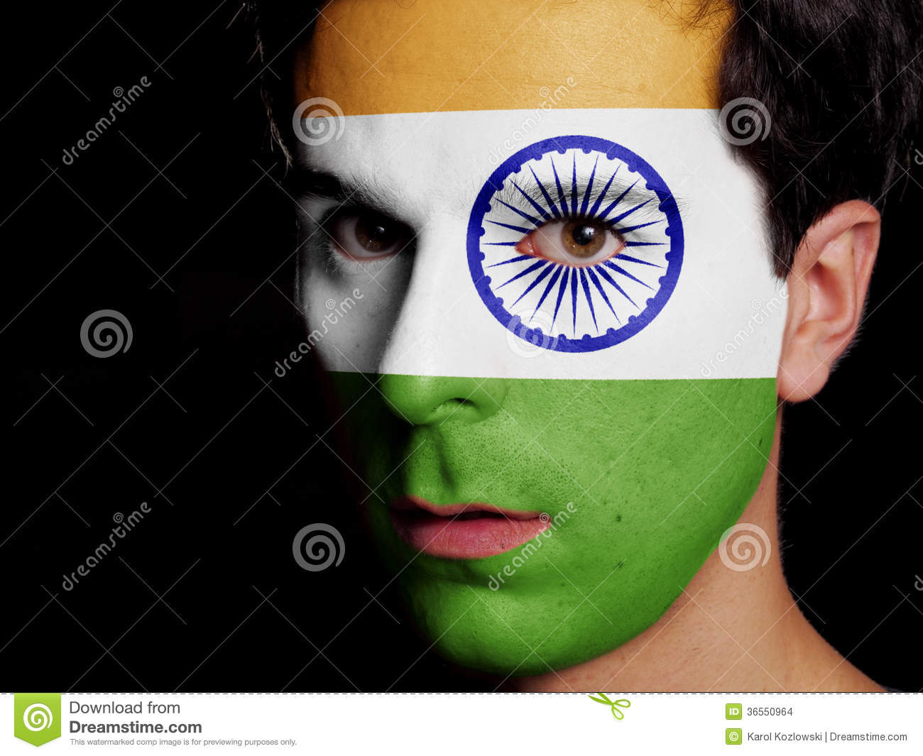 Face Paint Flag India Photos Free Royalty Free Stock Photos From Dreamstime