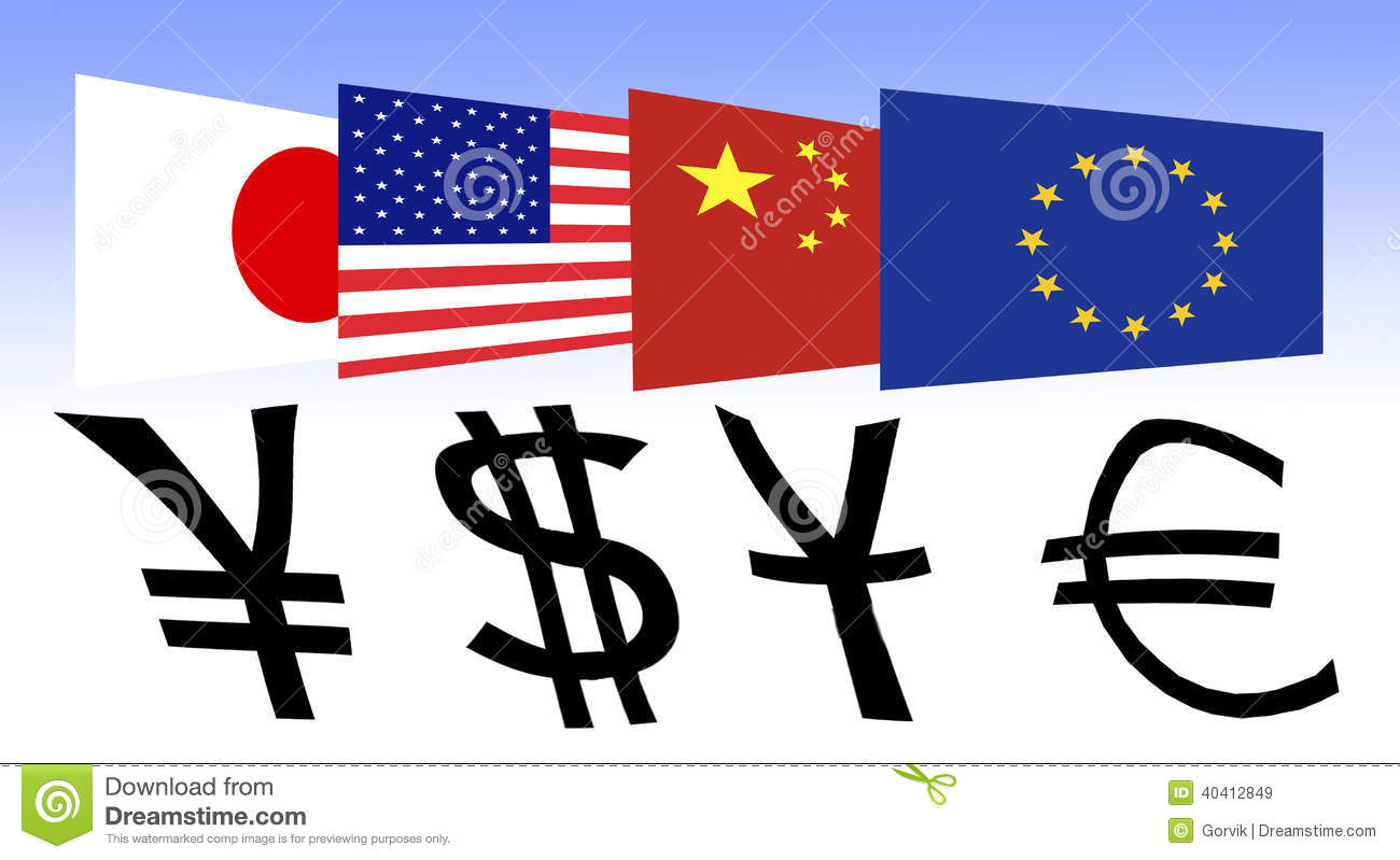 Flag of japan the us china and europe stock illustration royalty free stock photo biocorpaavc Choice Image