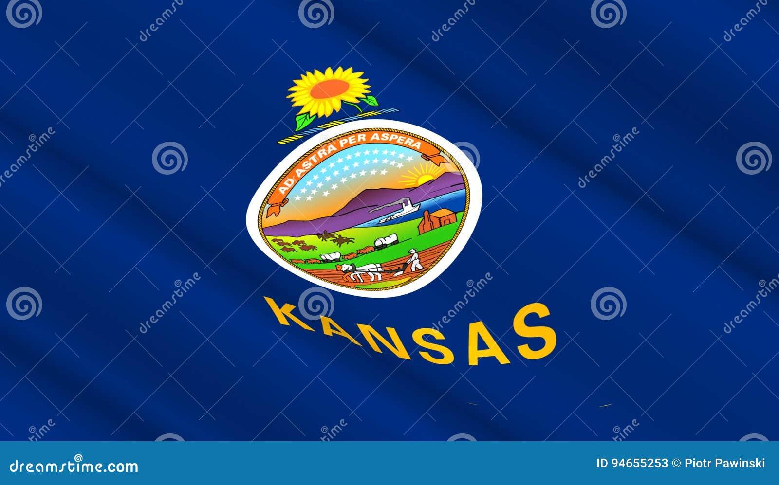 flag of kansas state stock illustration illustration of proud