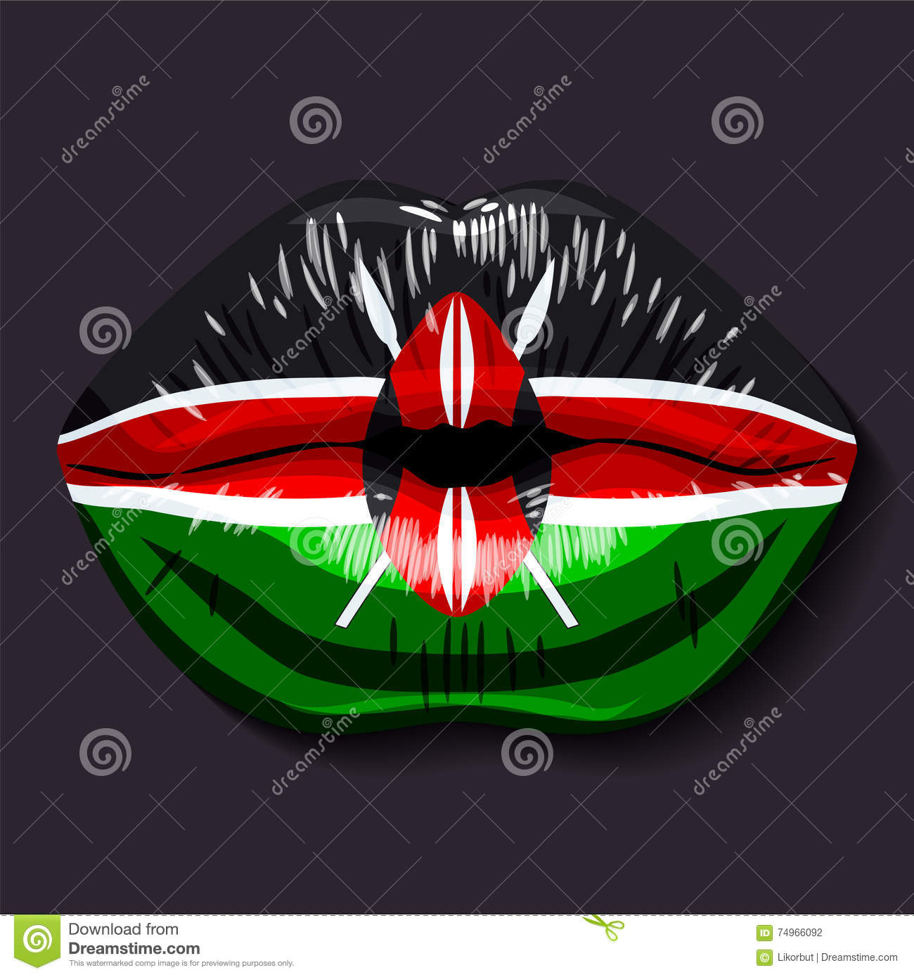 Flag Of Kenya Stock Vector. Illustration Of Foreign