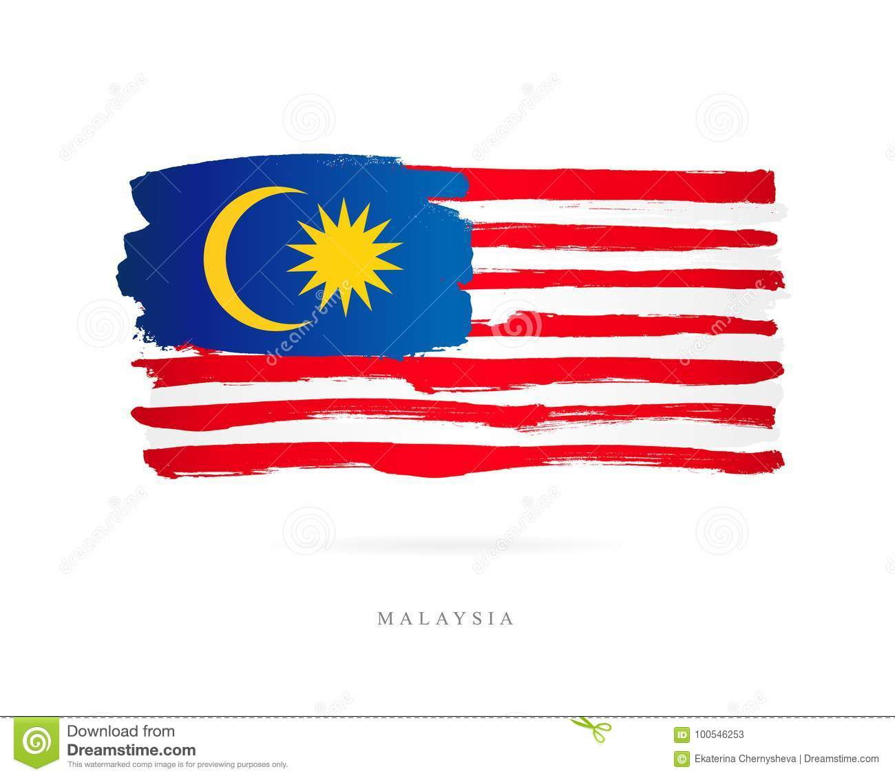 Flag of Malaysia. Abstract concept