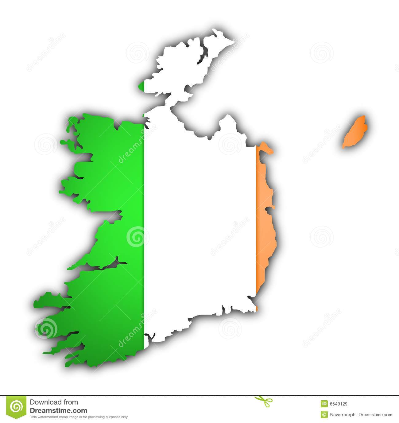 flag and map of ireland royalty free stock images image 6649129