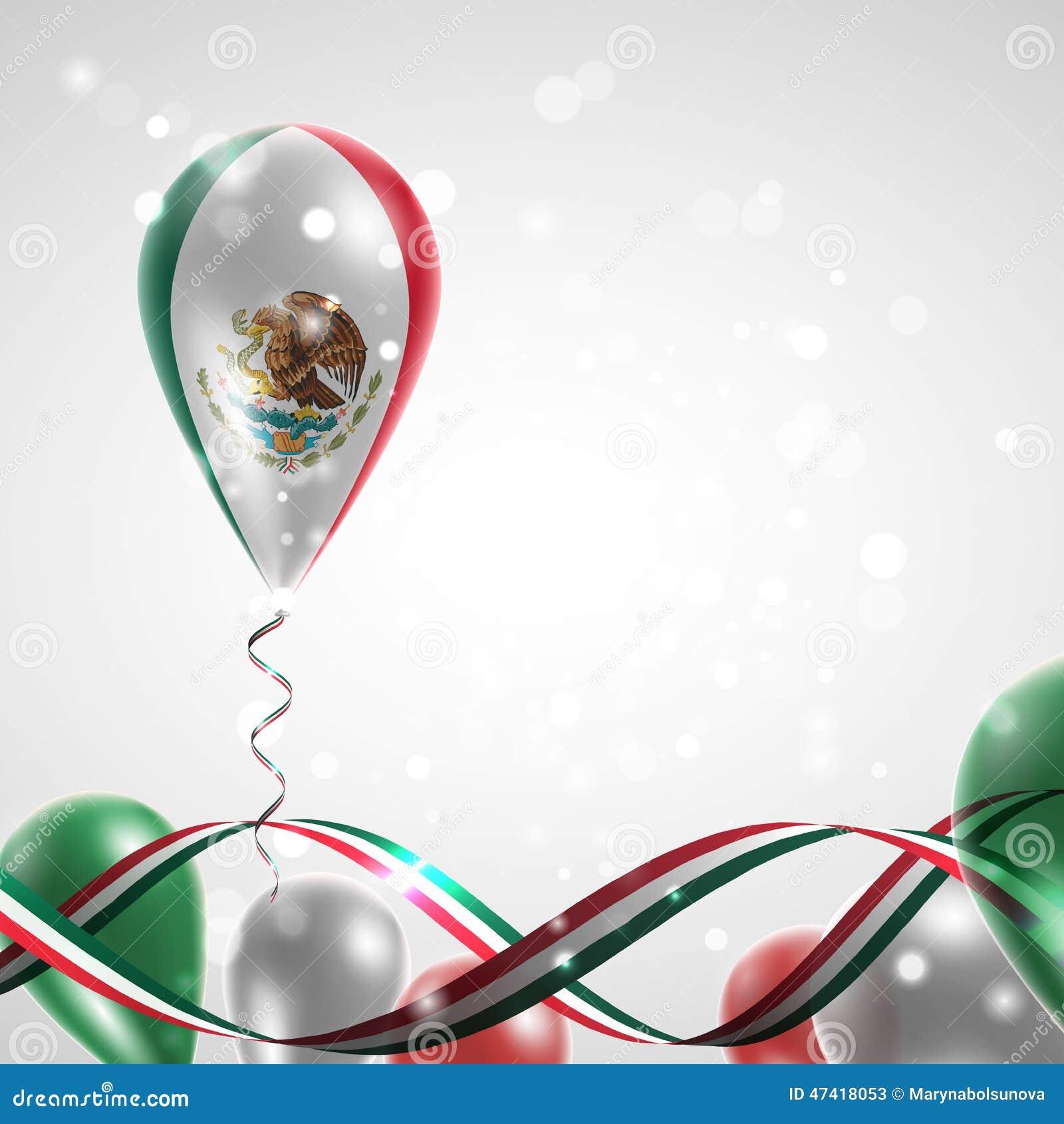 Flag of Mexico on ball... Mexico Country Vector