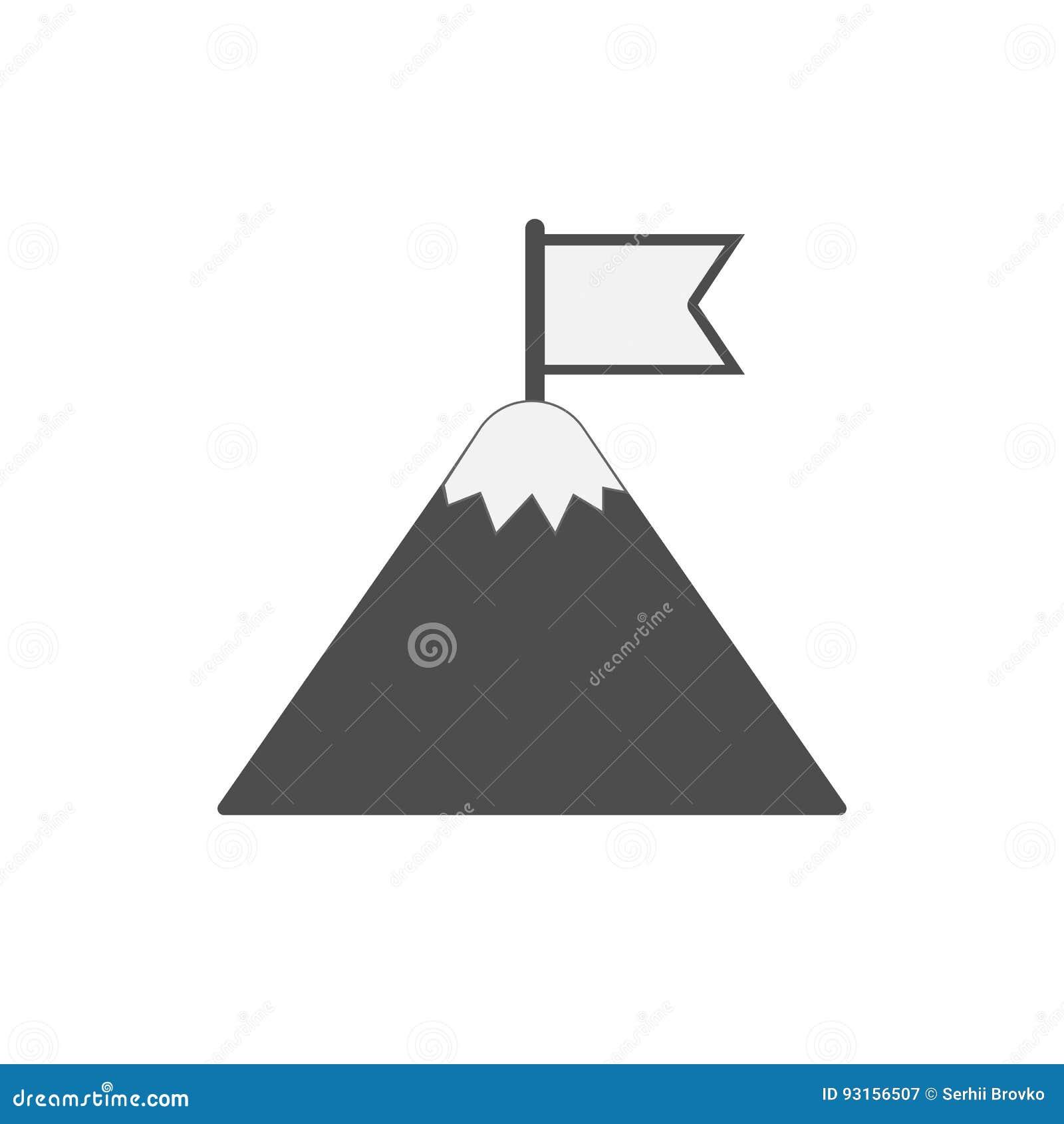 Flag on mountain.