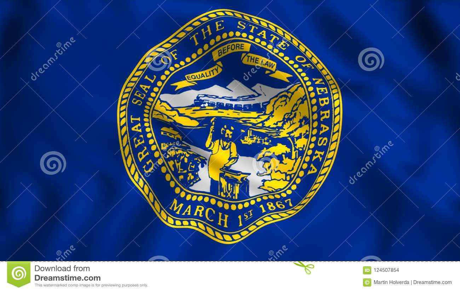flag nebraska state us state symbol stock illustration
