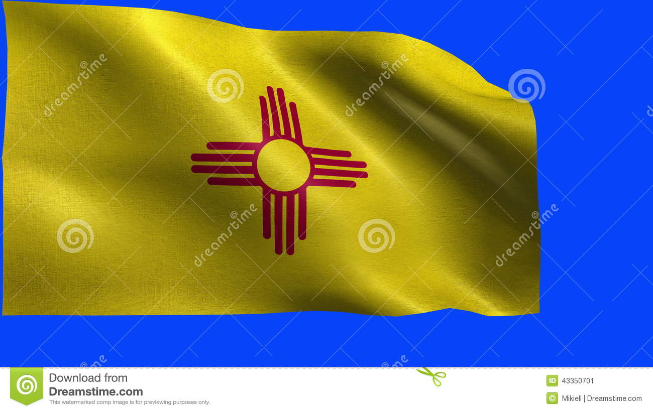 Flag Of New Mexico Nm Santa Fe Albuquerque January 6 1912 State Of The United States Of America Usa State Loop Stock Video Video Of Rendered Flags 43350701