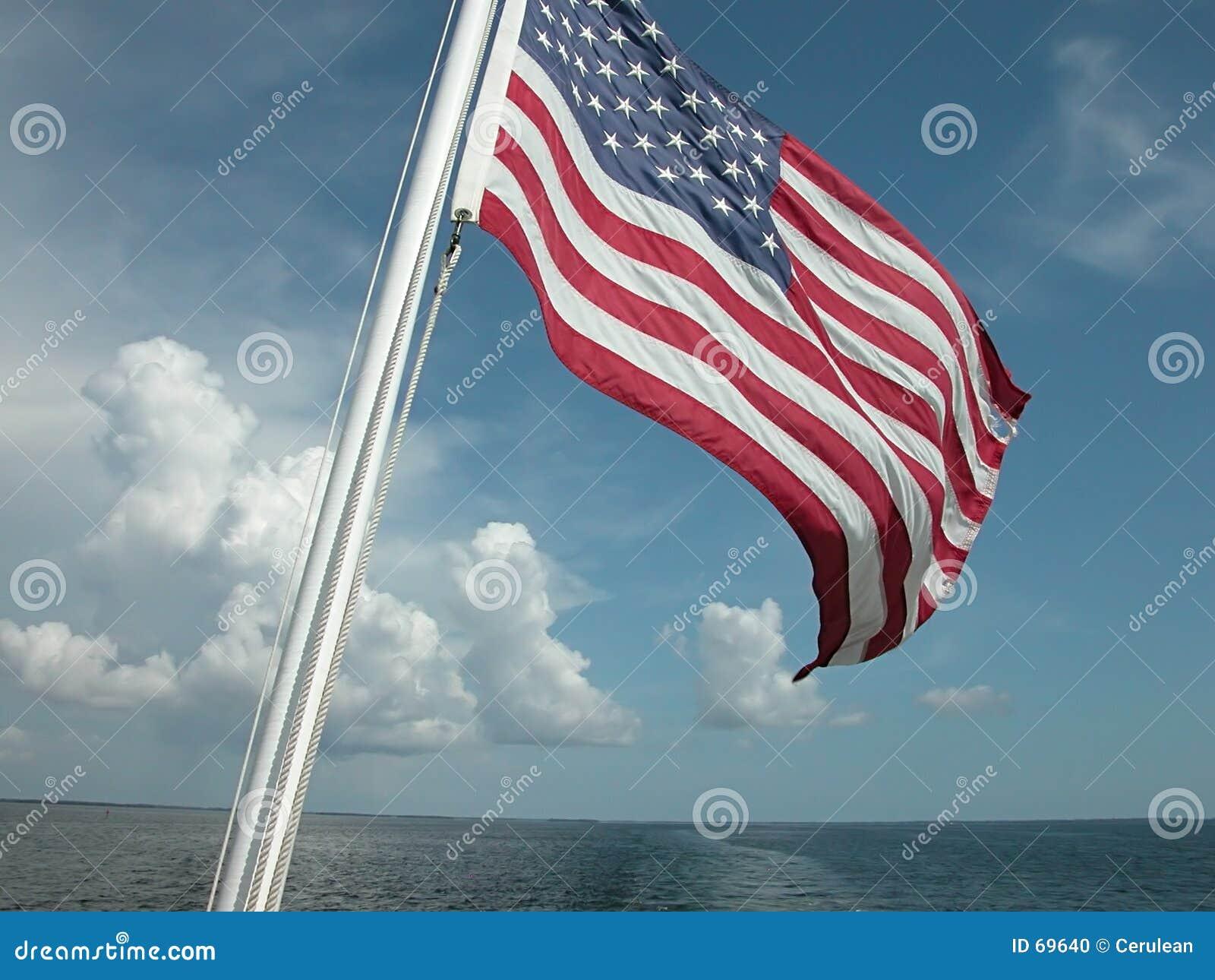 Flag and Ocean