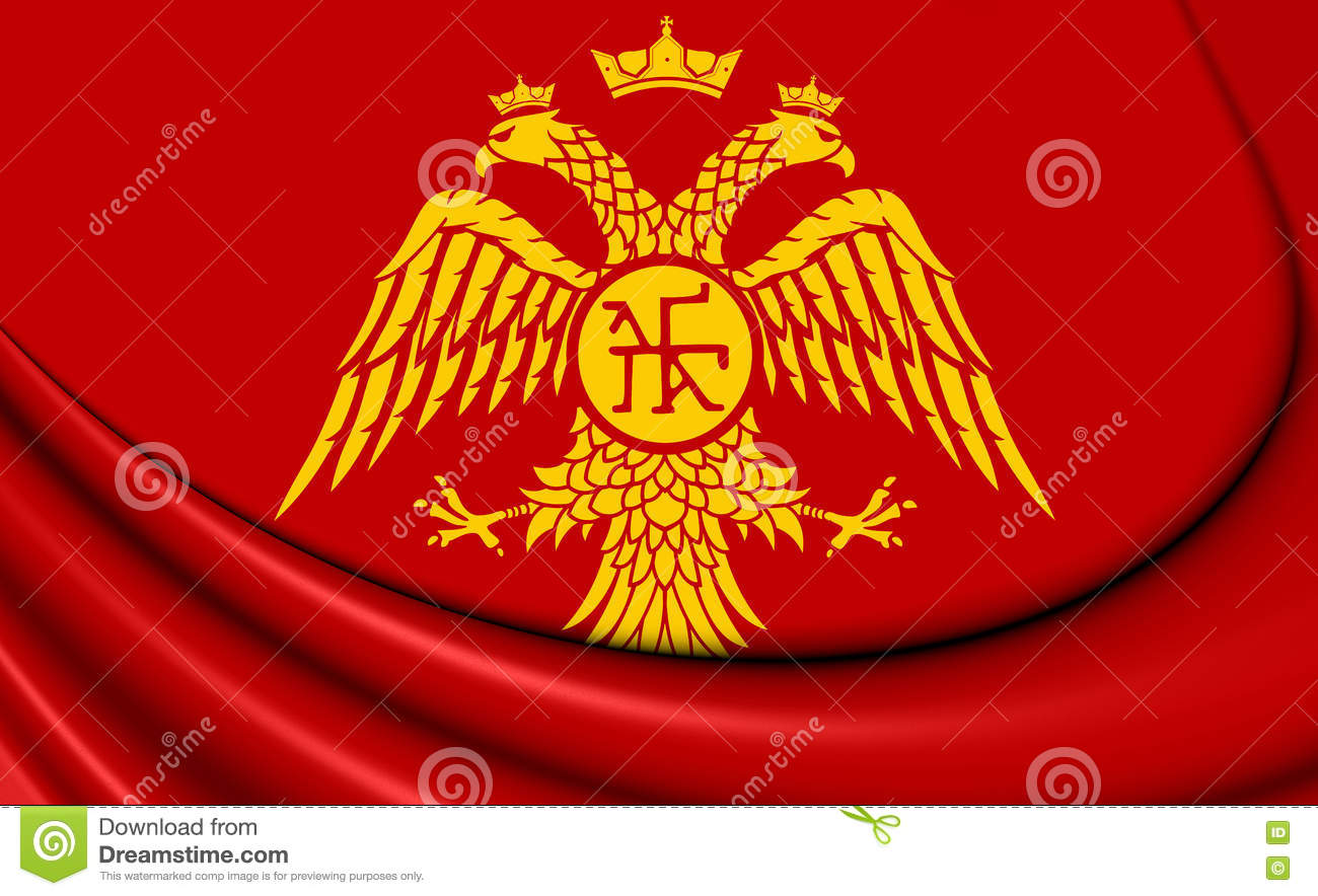 flag of palaiologos dynasty stock illustration illustration of