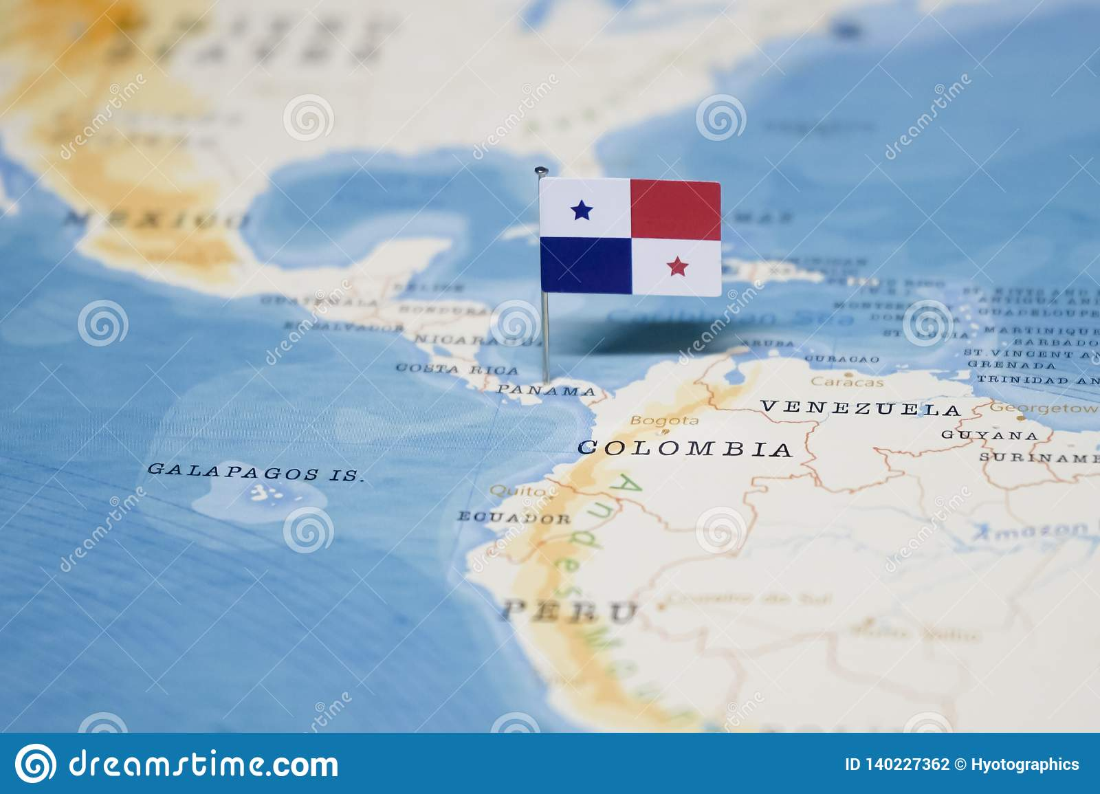 Picture of: The Flag Of Panama In The World Map Stock Photo Image Of Graphic Advertise 140227362