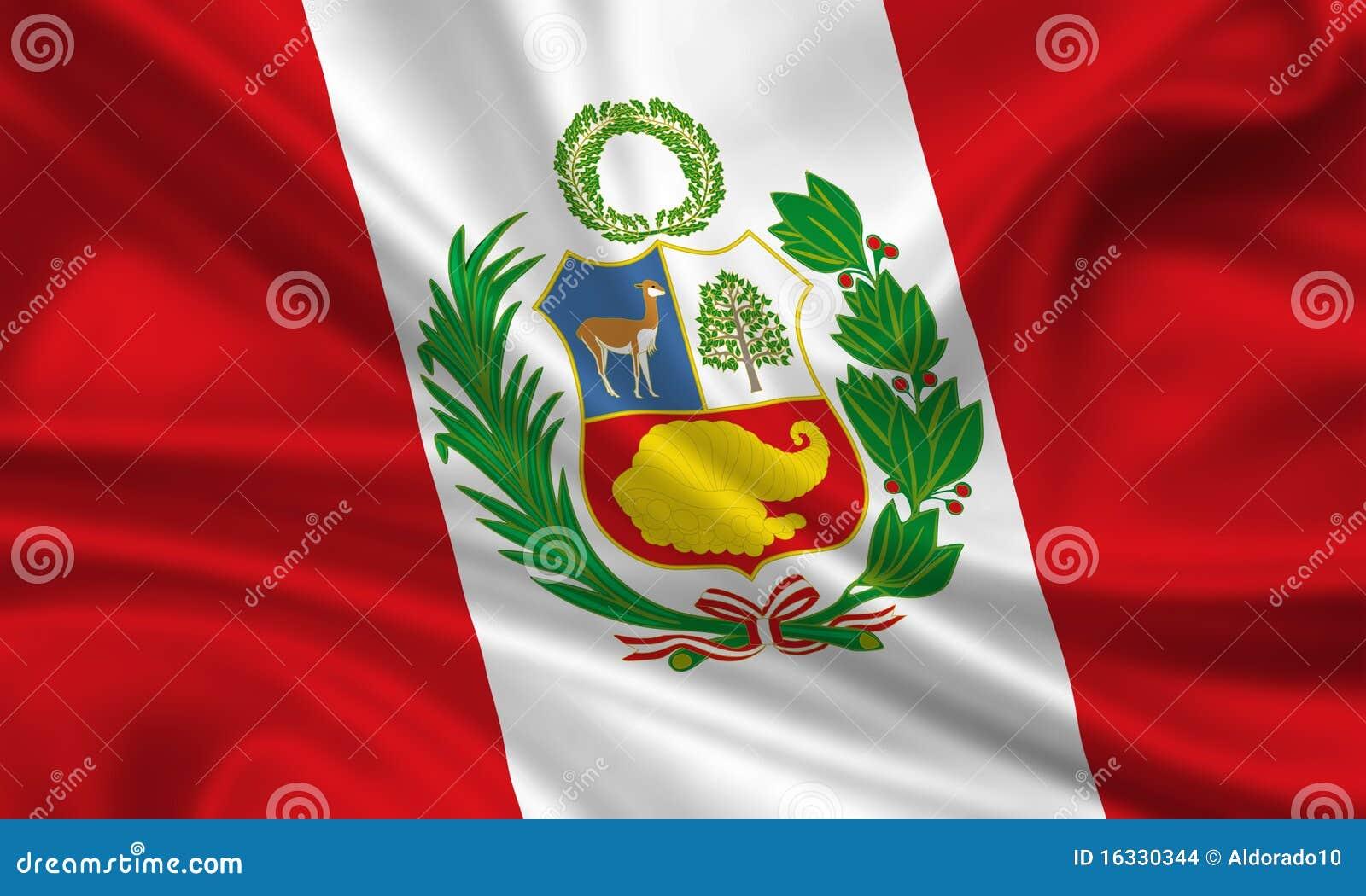 flag of peru stock illustration illustration of moving 16330344