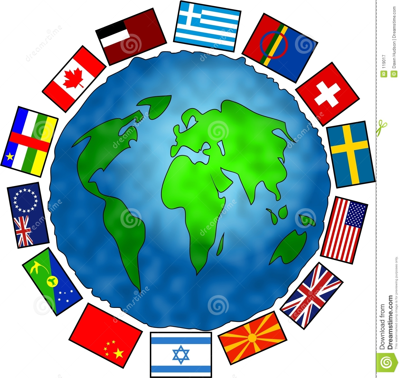 Flag Planet stock illustration. Illustration of conceptual ...