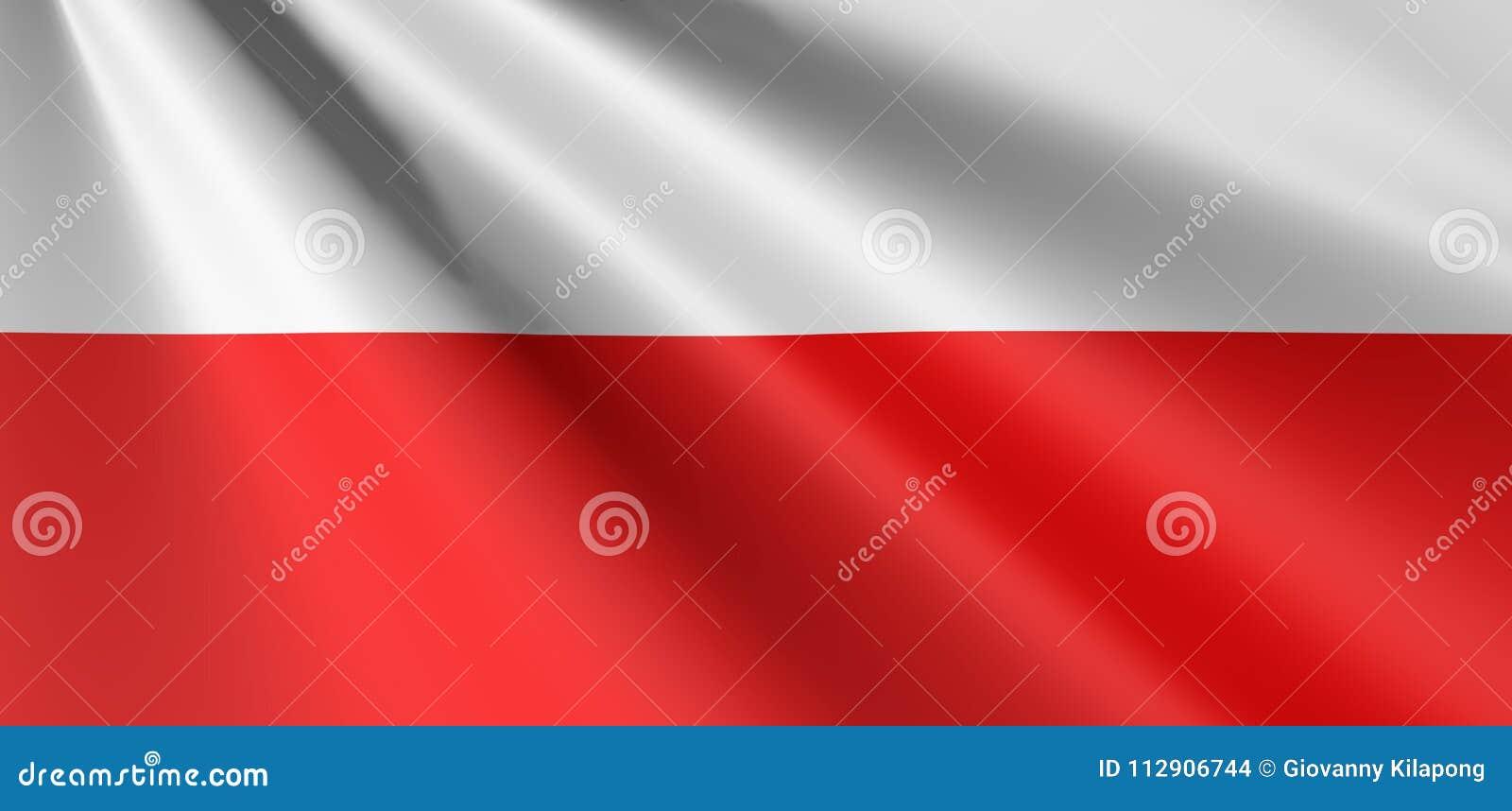 Flag of Poland waving