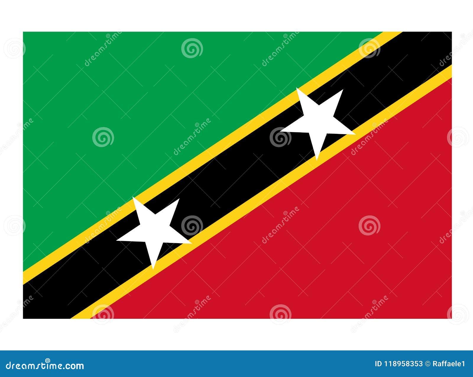 flag of saint kitts and nevis stock vector illustration of flag
