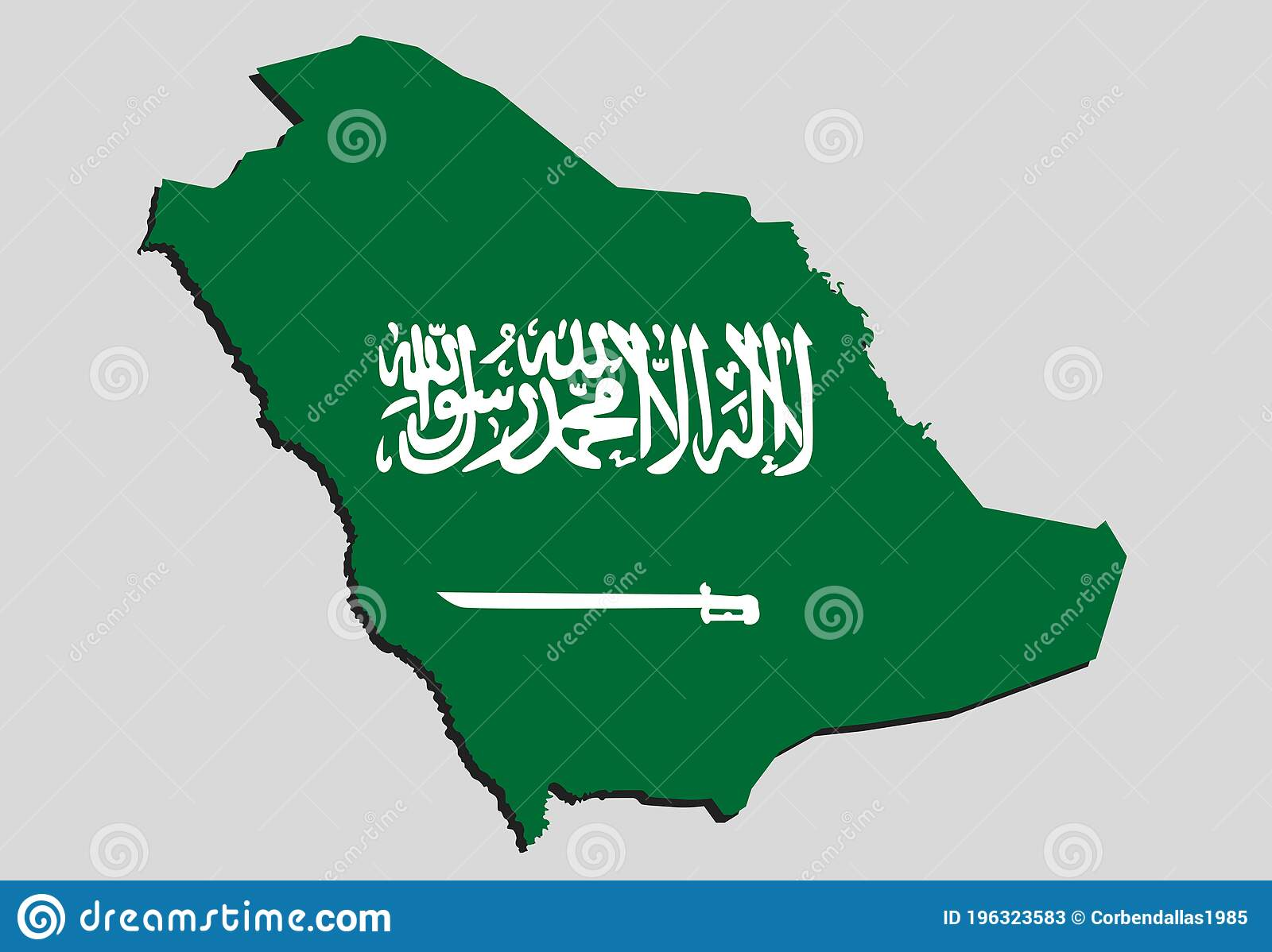 Picture of: Flag Of Saudi Arabia Asia Country Map Background Stock Vector Illustration Of Arab Navigation 196323583