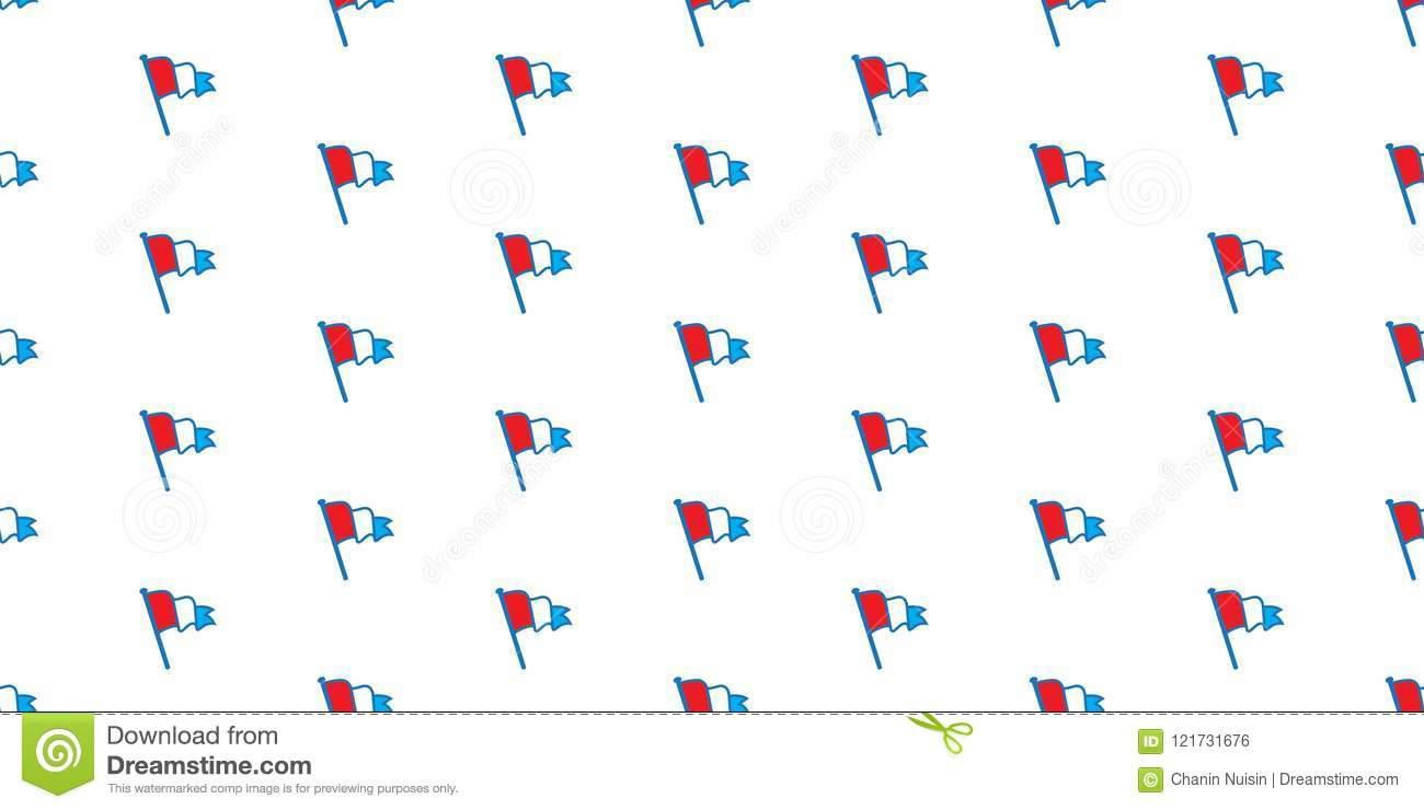 Flag Seamless Pattern Netherland Vector Wallpaper Isolated