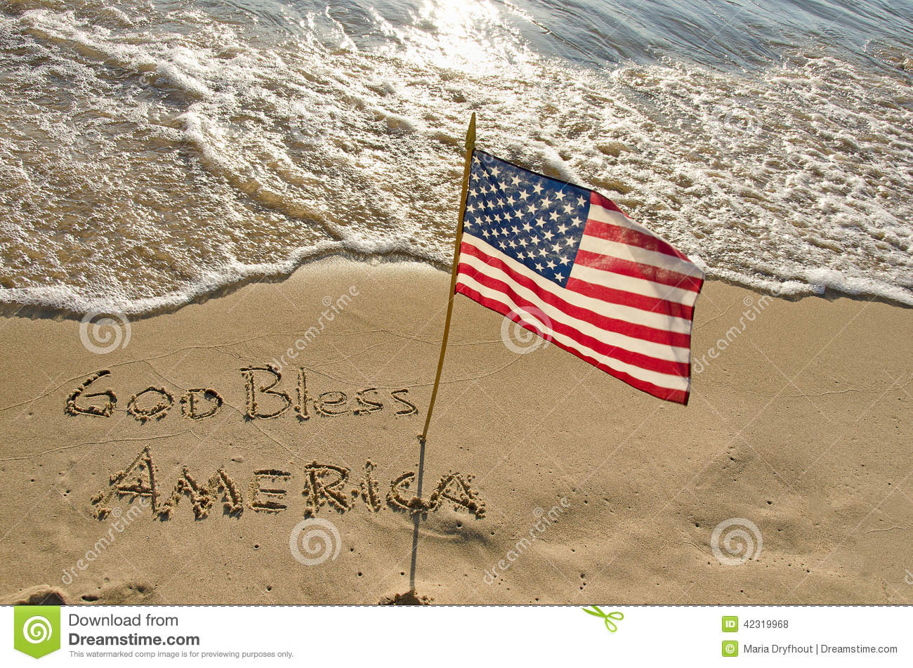 Flag On The Seashore Stock Photo Image Of Seashore Sunny 42319968