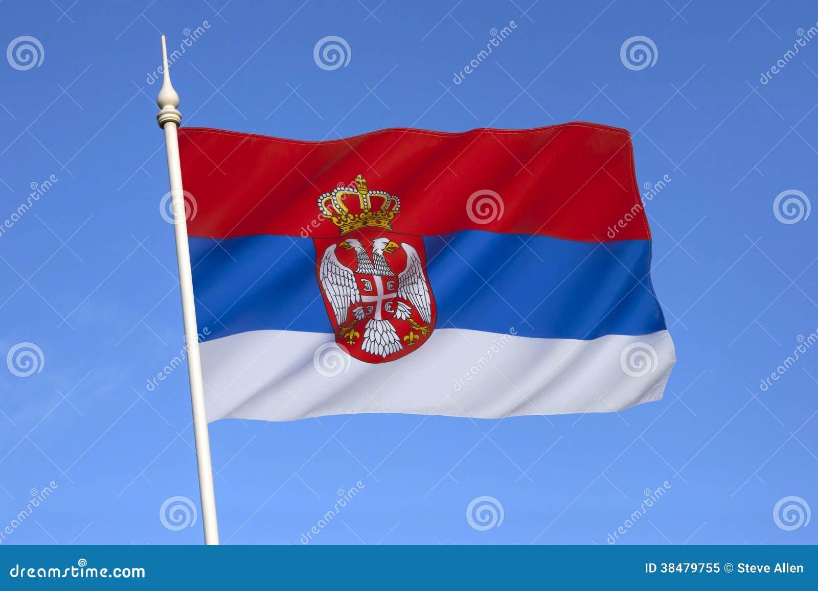 Flag of Serbia - Europe