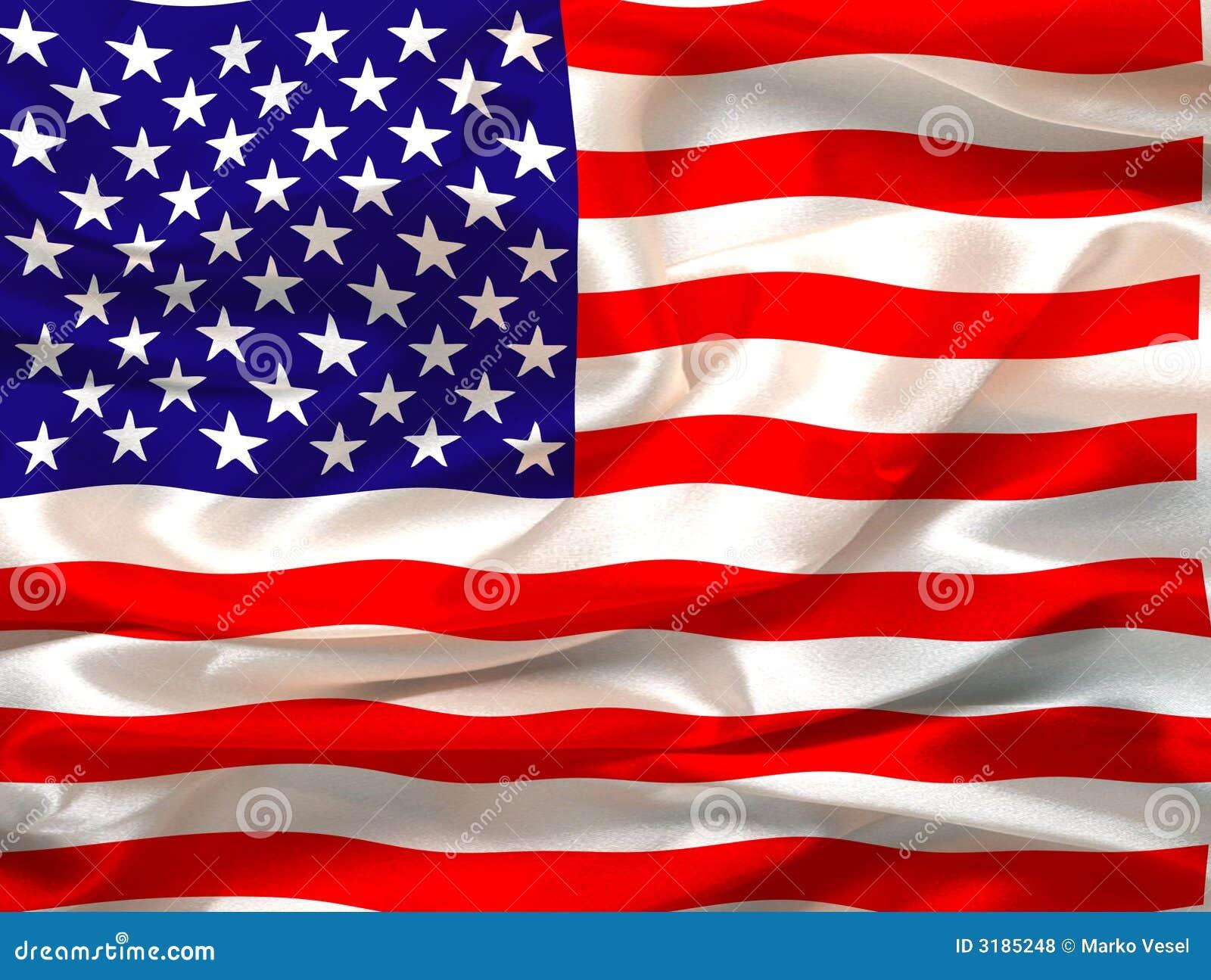Flag silkeslent oss
