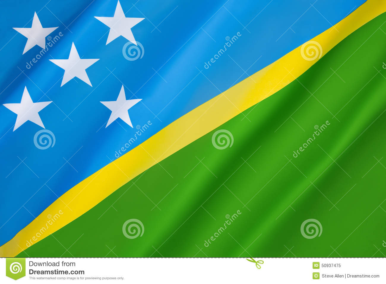Flag Of The Solomon Islands Stock Image - Image of travel