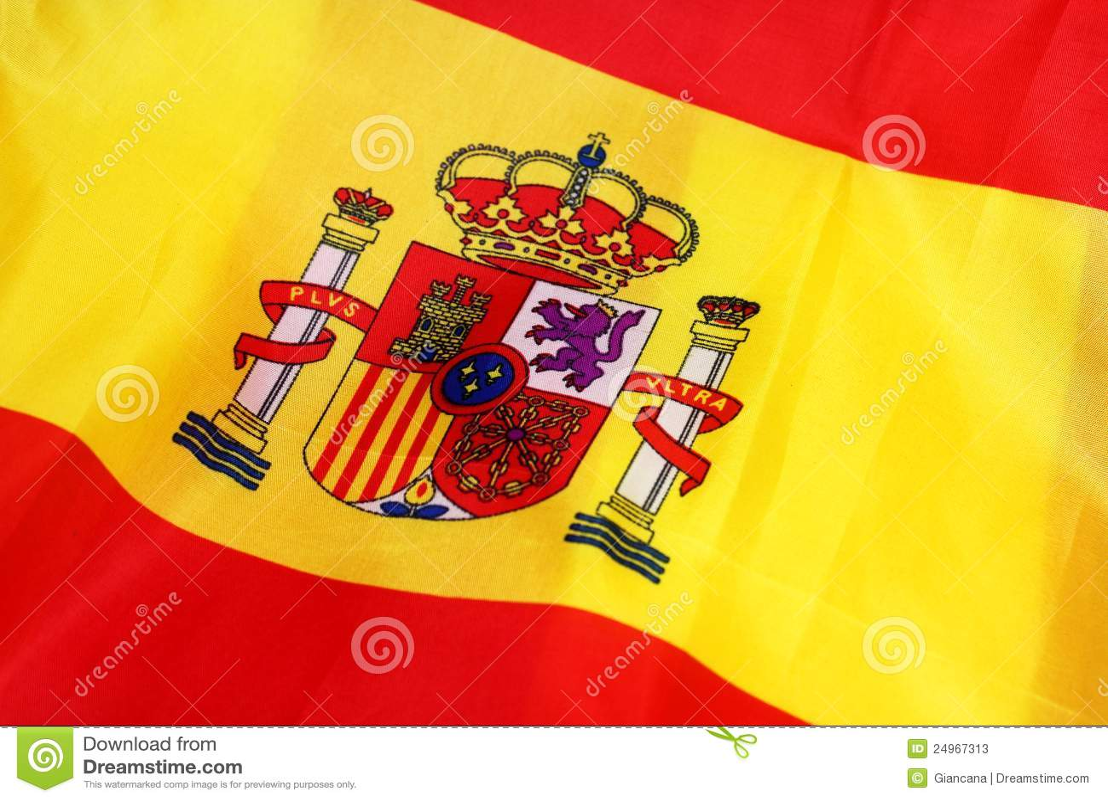 flag of spain stock photos image 24967313