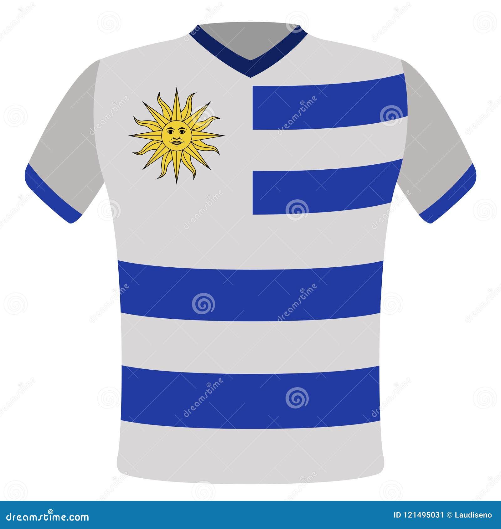 684e24dc22d Flag t-shirt of Uruguay stock vector. Illustration of flag - 121495031