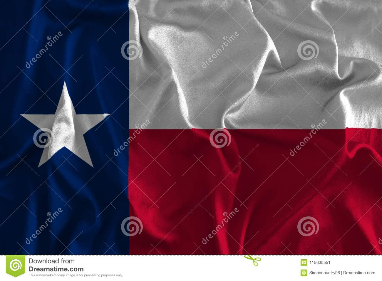 Flag Of Texas Background The Lone Star State Stock Illustration