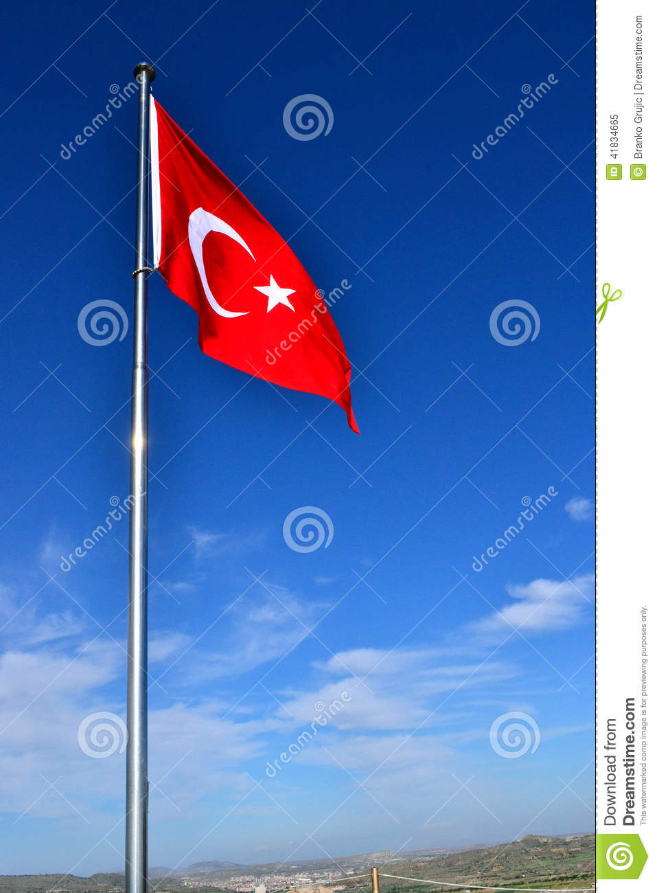 The Flag of Turkey stock image  Image of moon, national