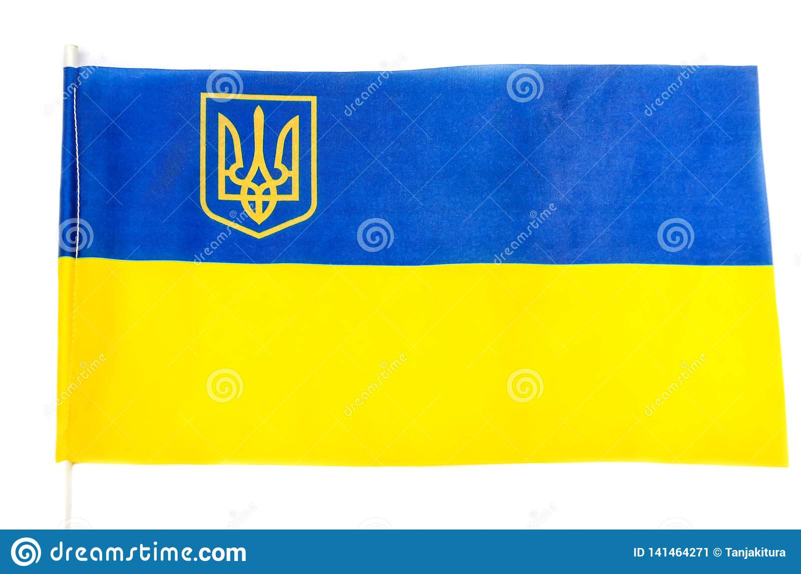 Flag Of Ukraine On A White Background Stock Image