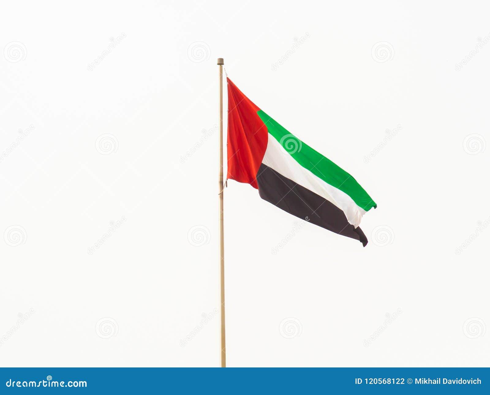 Flag Of The United Arab Emirates Dubai Stock Photo Image Of