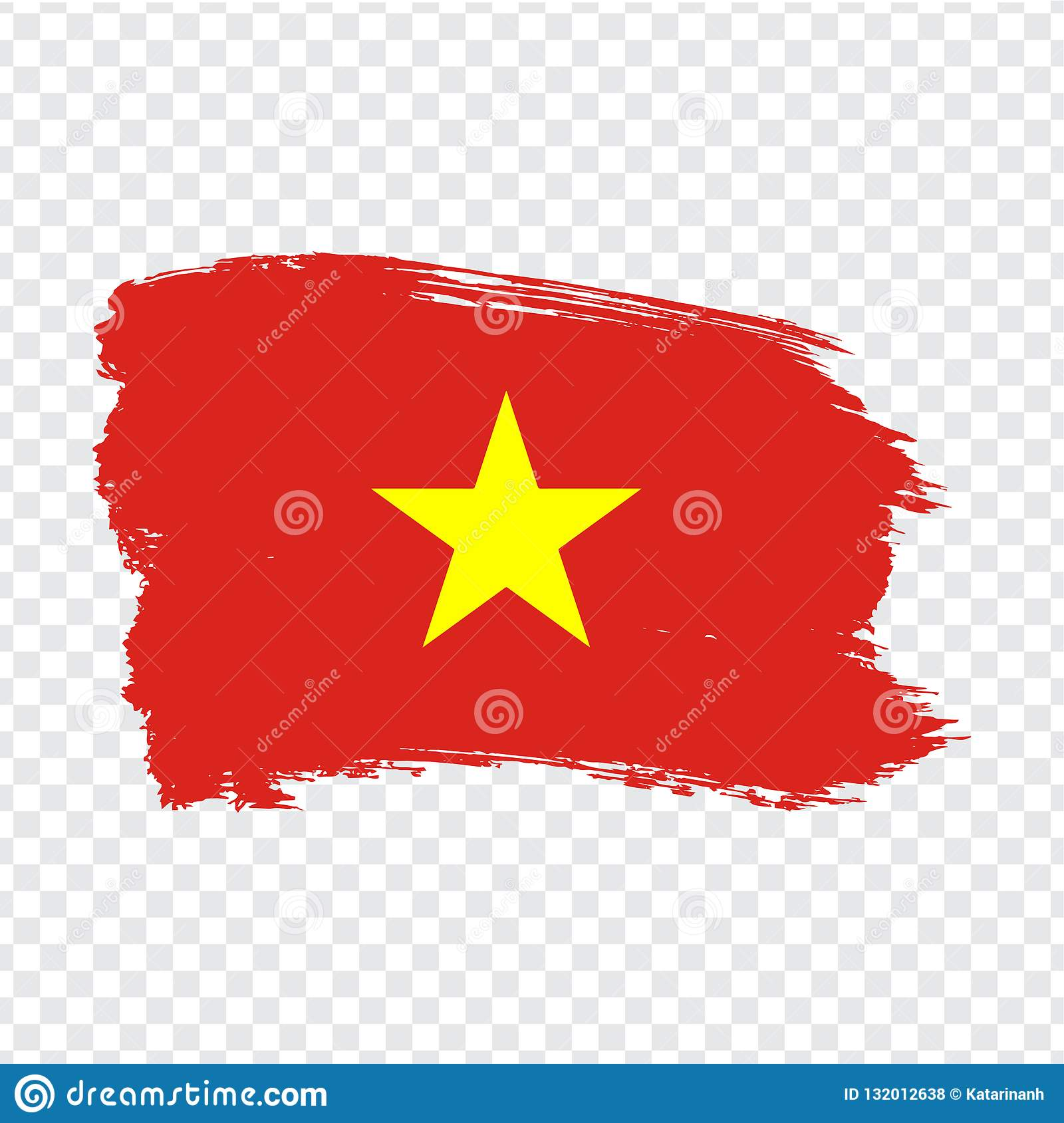 Flag Vietnam Brush Stroke Background Flag Of Vietnam On Transparent Background Painted Texture Stock Vector Stock Vector Illustration Of Independence Country 132012638