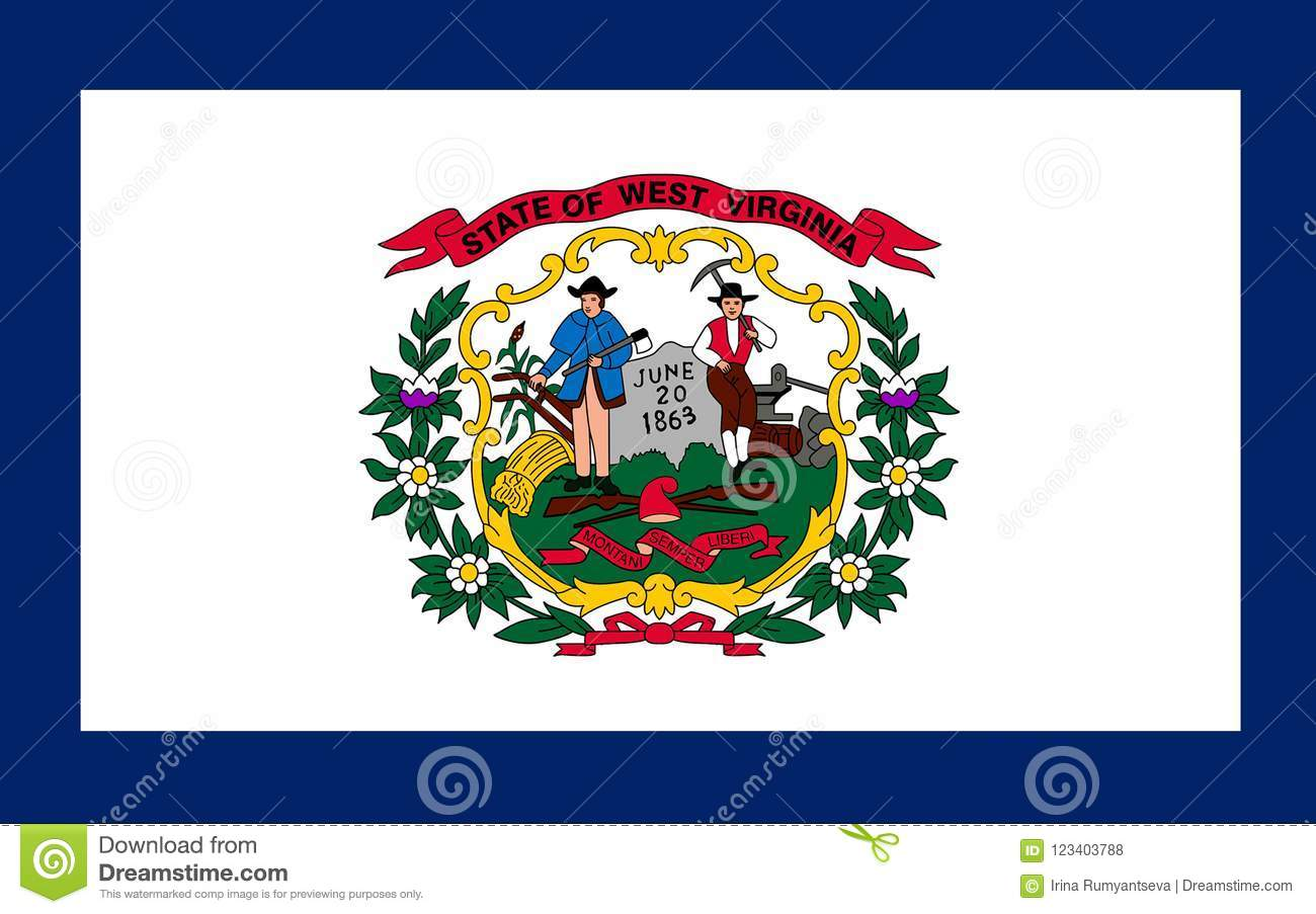 Flag Of West Virginia Usa Stock Photo Image Of State 123403788